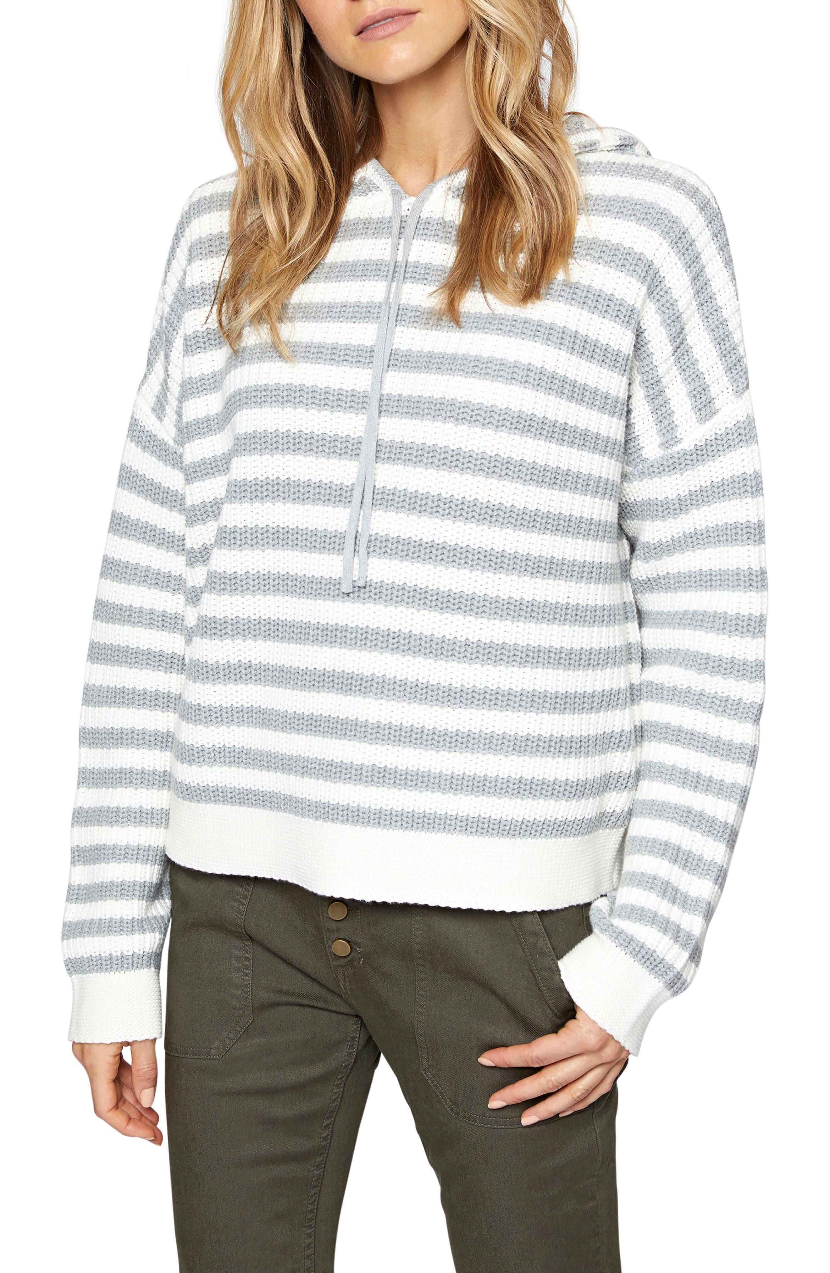 Alternate Image 1 Selected - Sanctuary Harlowe Stripe Hoodie (Regular & Petite)