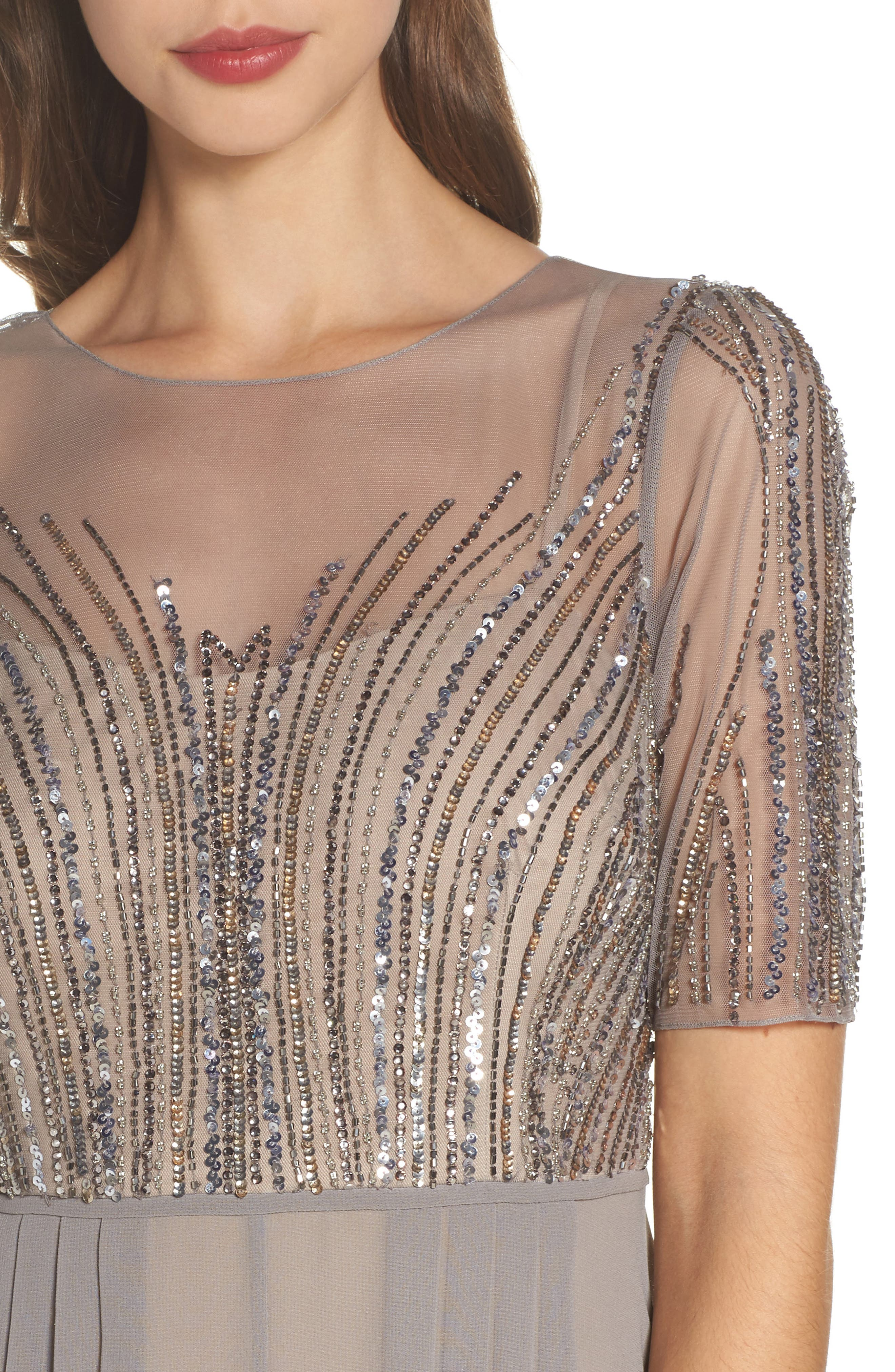 Alternate Image 4  - Adrianna Papell Embellished Georgette Gown