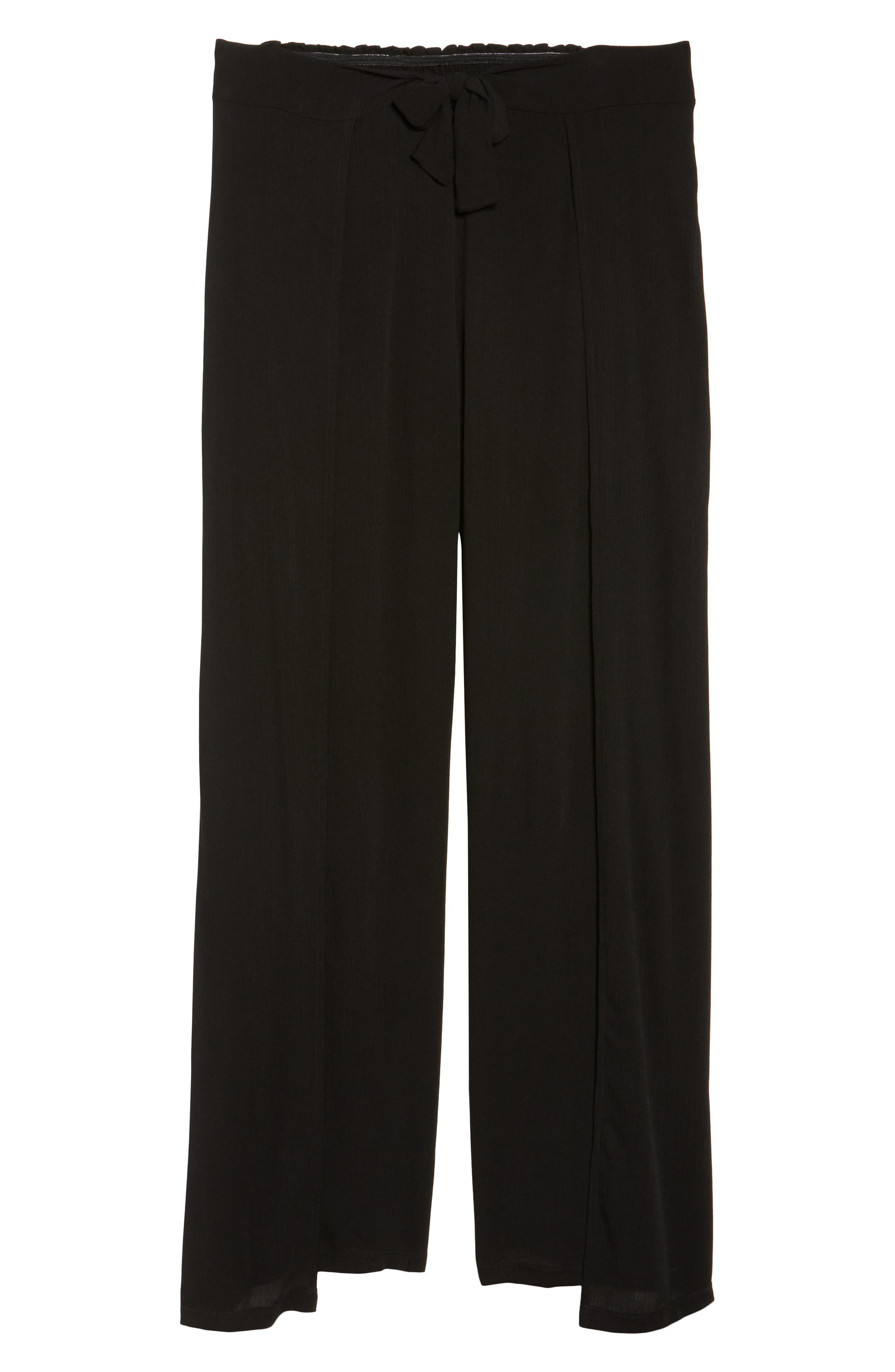 Modern Muse Cover-Up Pants,                             Alternate thumbnail 6, color,                             Black