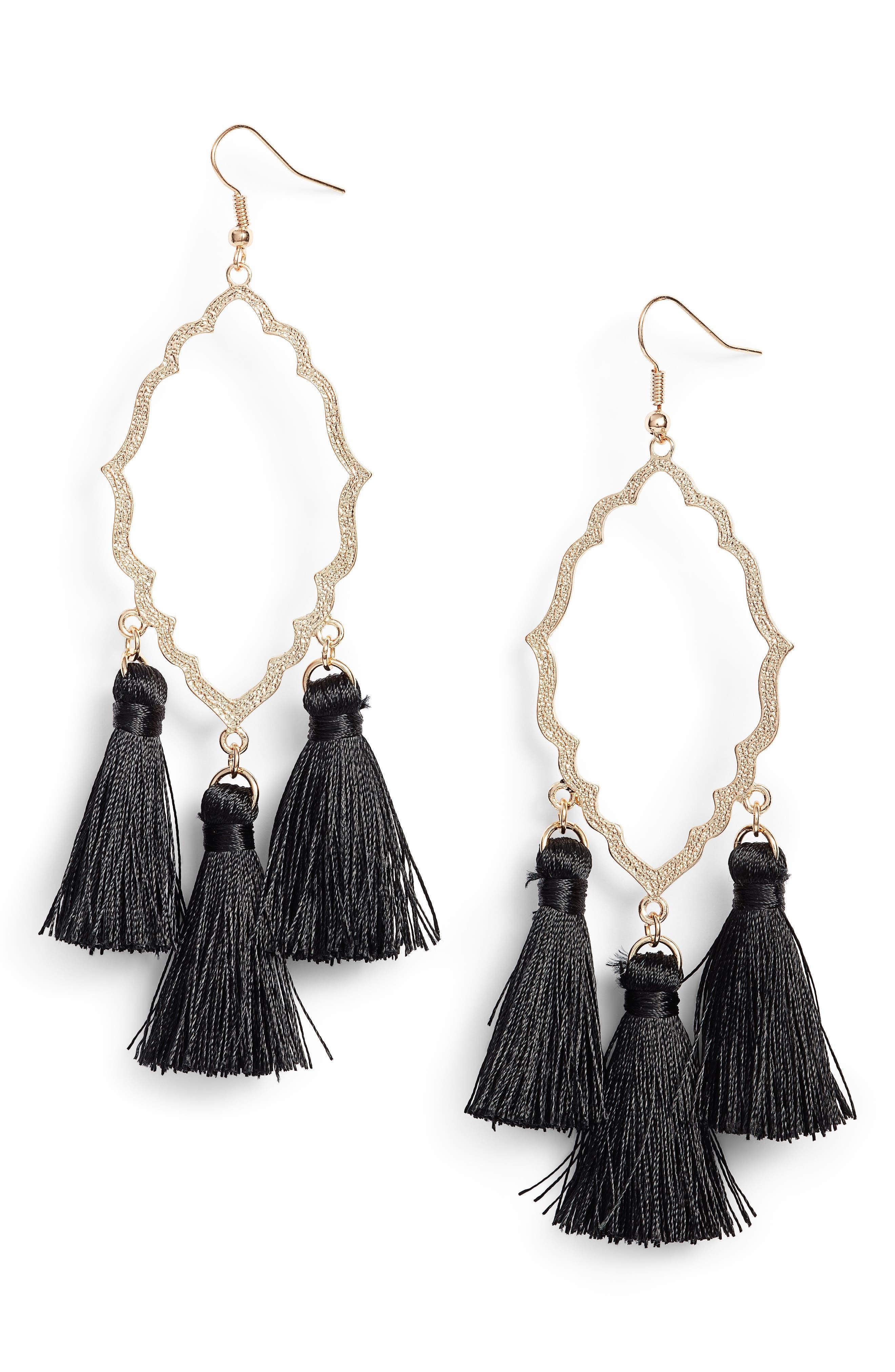 BP. Medallion Tassel Earrings