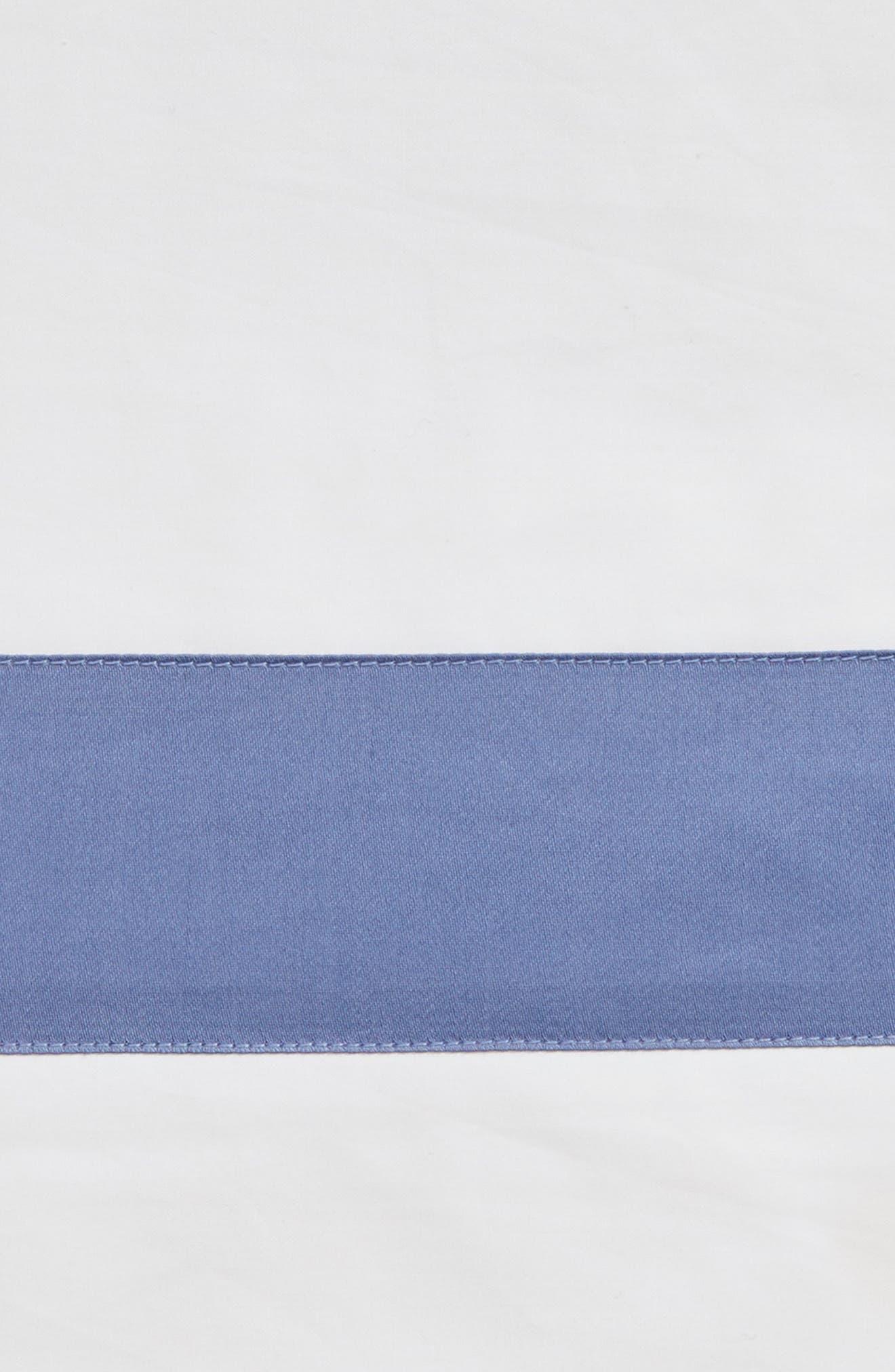 Orlo Flat Sheet,                             Alternate thumbnail 2, color,                             White/ Cornflower