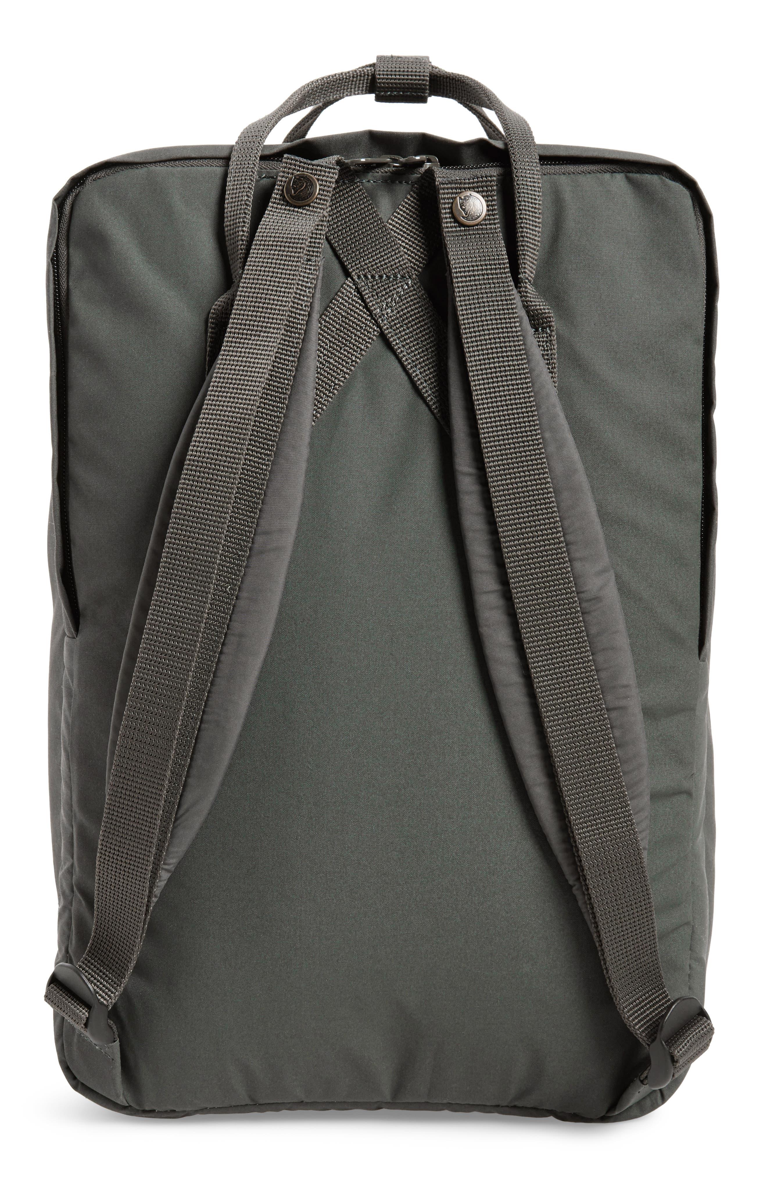 'Kånken' Laptop Backpack,                             Alternate thumbnail 3, color,                             Forest Green