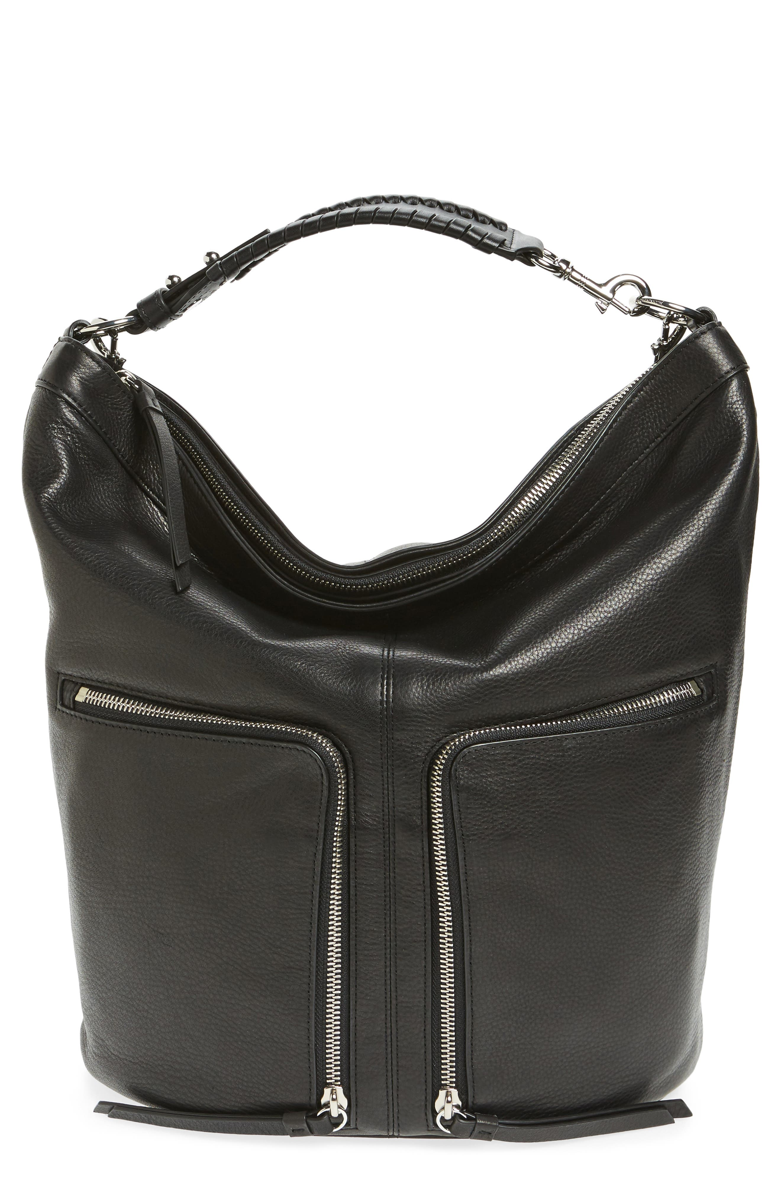 Fetch Leather Backpack,                         Main,                         color, Black