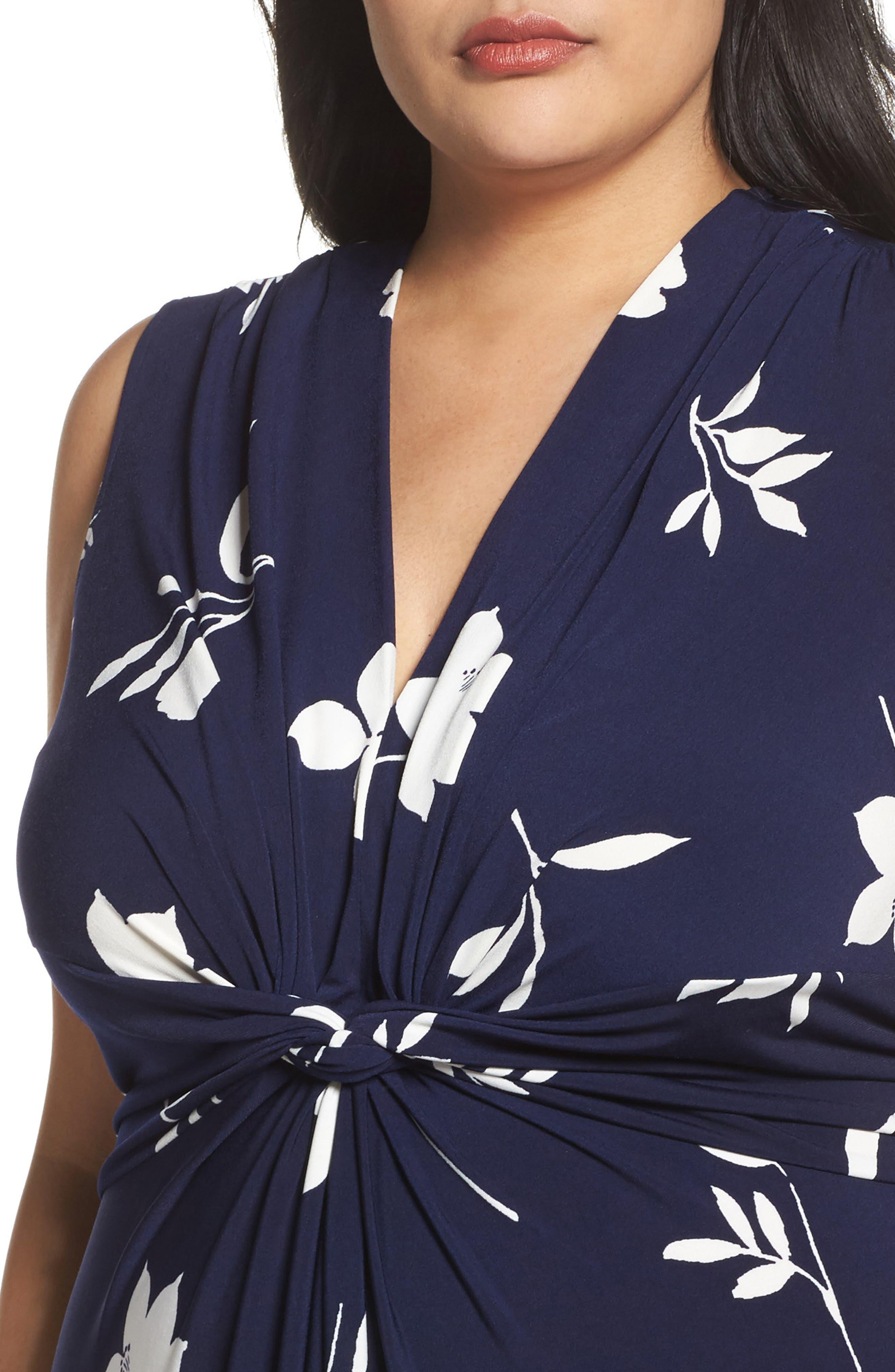 Alternate Image 4  - Eliza J Sleeveless Knot Detail Maxi Dress (Plus Size)