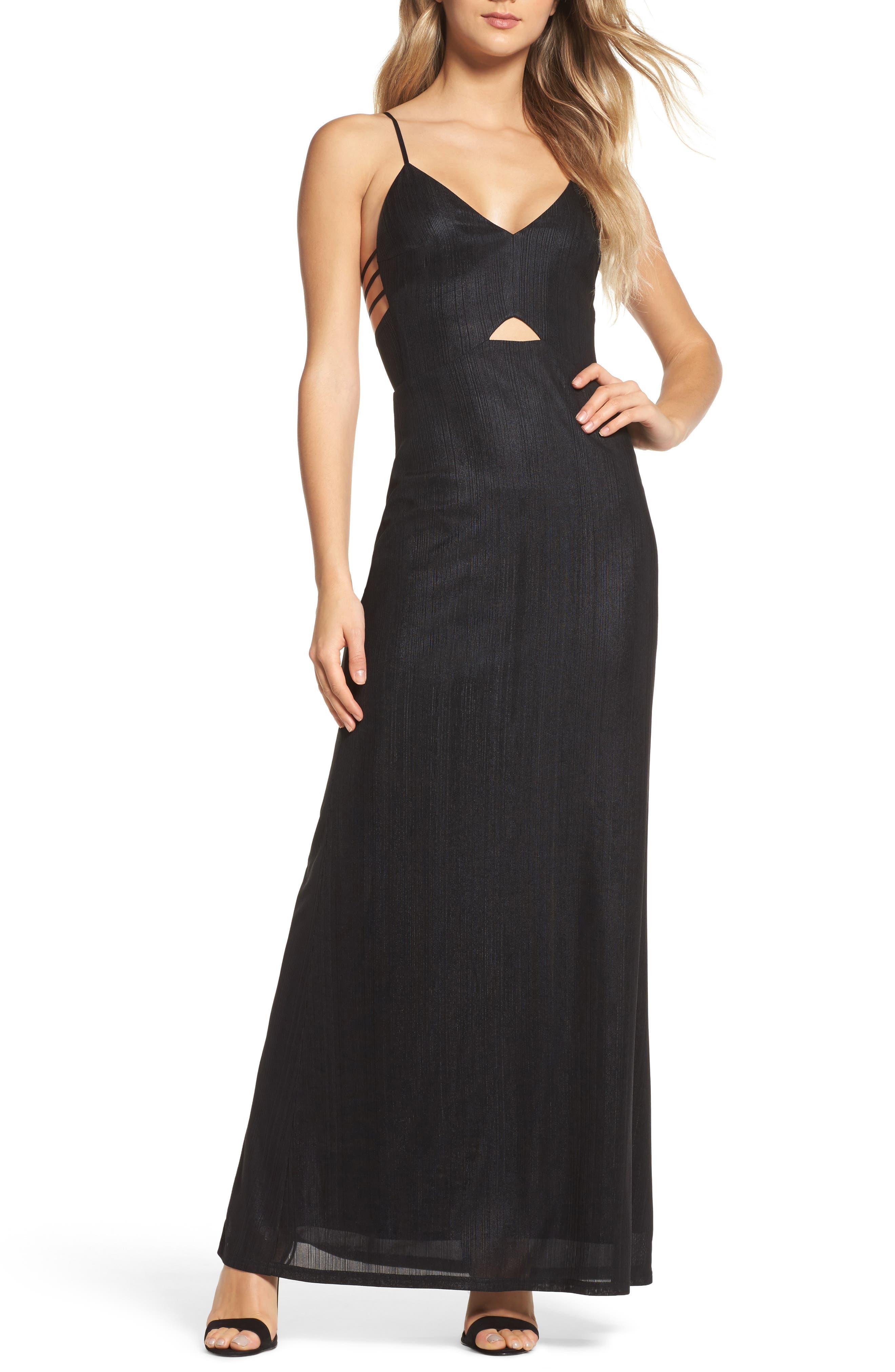 The Big Heat Maxi Dress,                         Main,                         color, Black