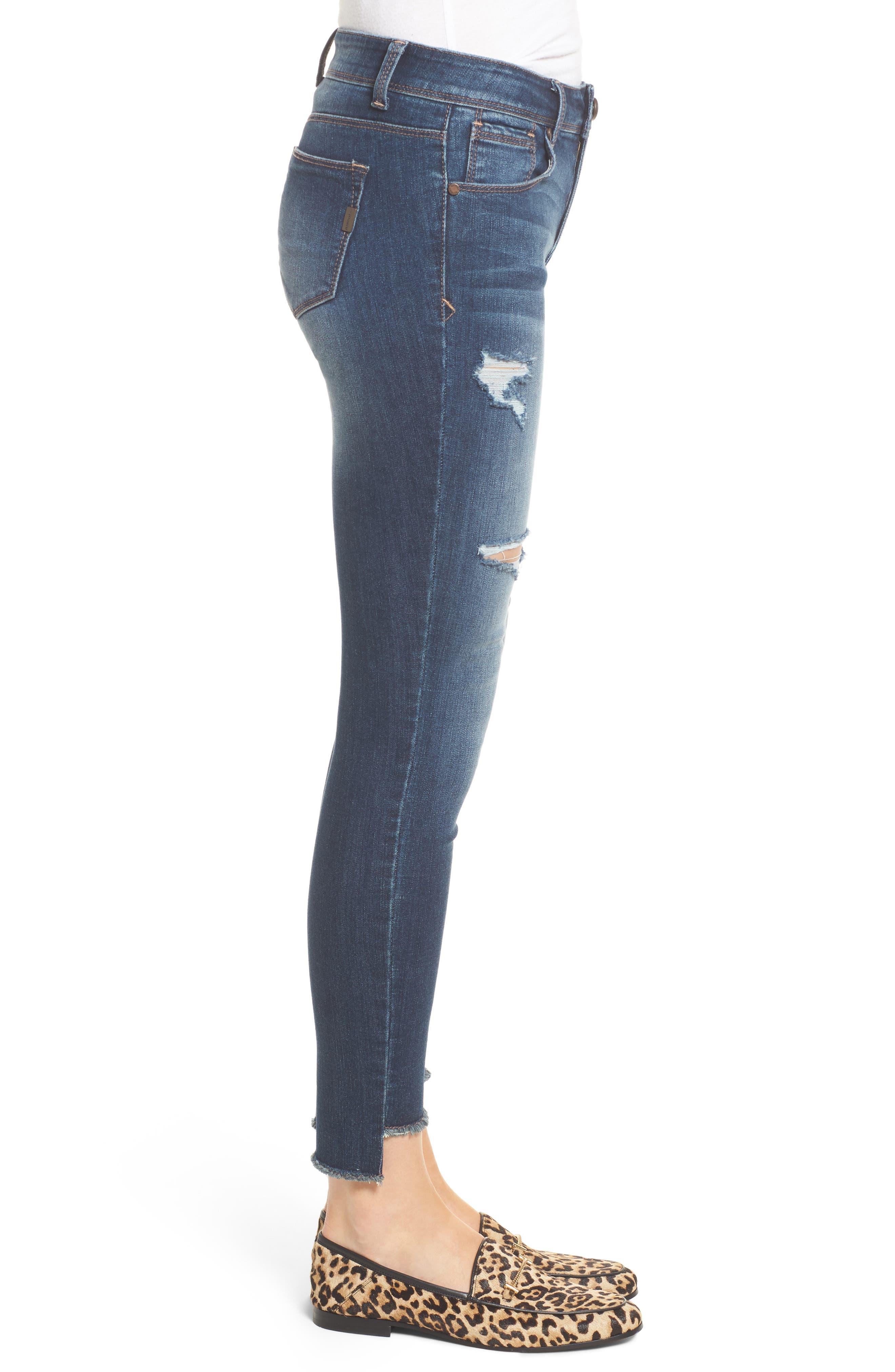 Alternate Image 3  - 1822 Denim Step Hem Skinny Jeans (Eleni)