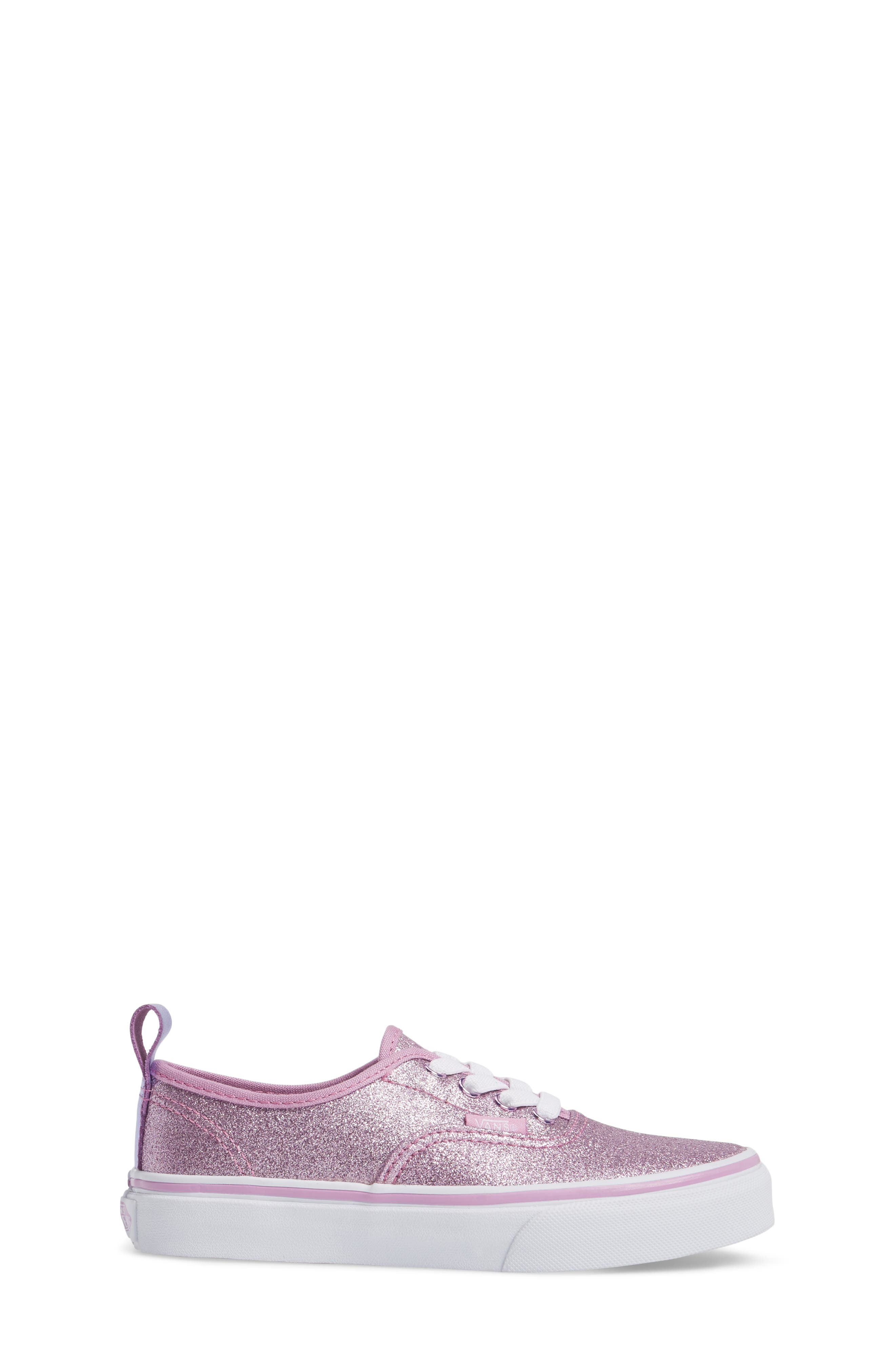 Alternate Image 3  - Vans Glitter Authentic Elastic Lace Sneaker (Baby, Walker, Toddler, Little Kid & Big Kid)