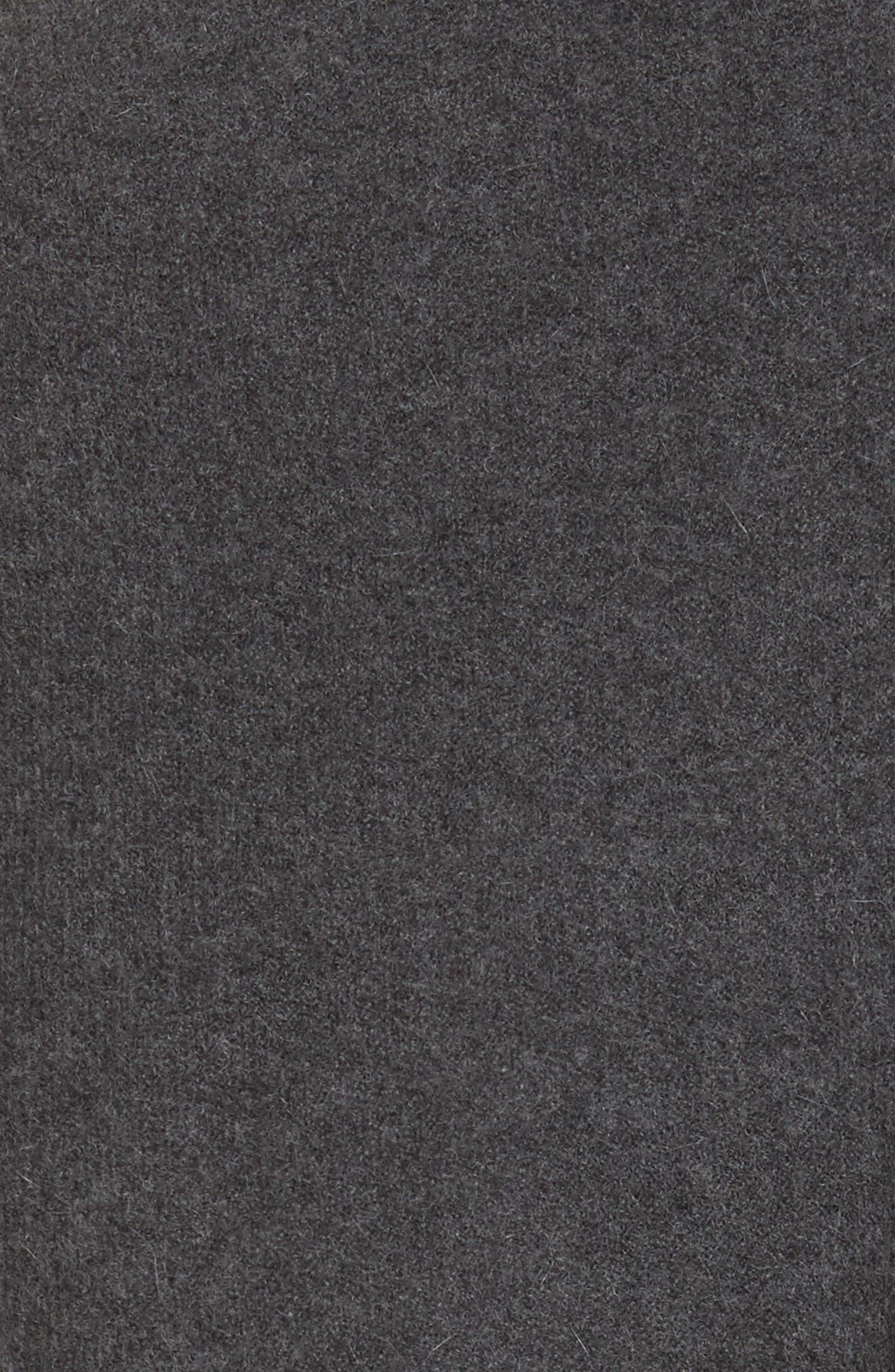 Sorin Merino Wool Blend Wrap Vest,                             Alternate thumbnail 5, color,                             Shale Melange