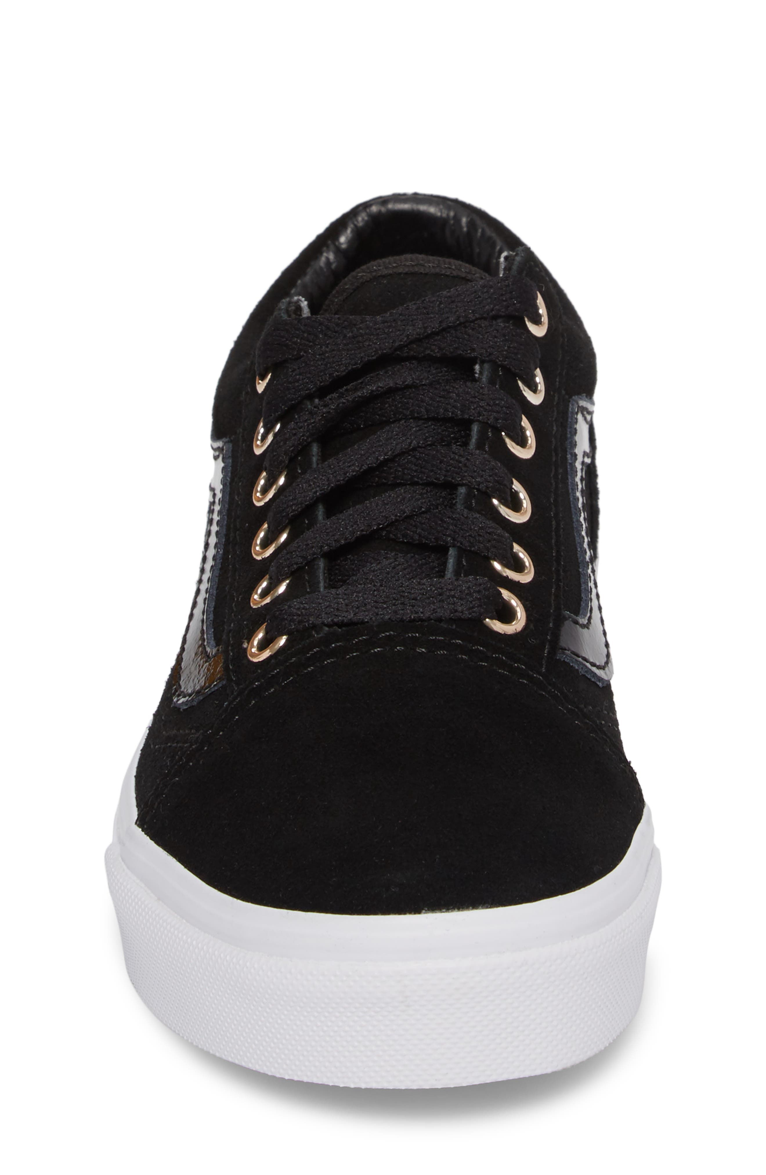 Old Skool Sneaker,                             Alternate thumbnail 4, color,                             Black/ Gold