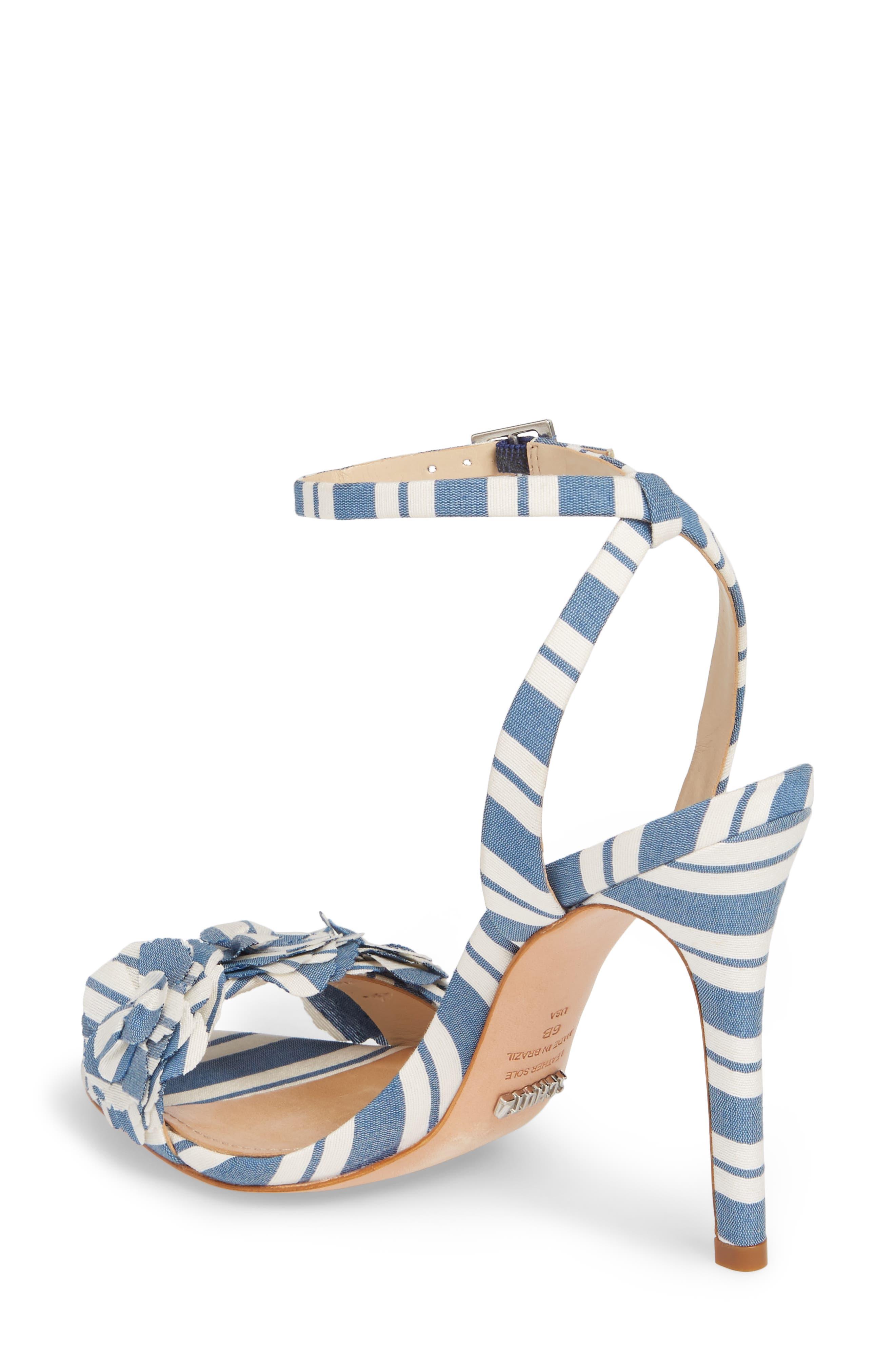 Aida Flower Appliqué Sandal,                             Alternate thumbnail 2, color,                             Dress Blue