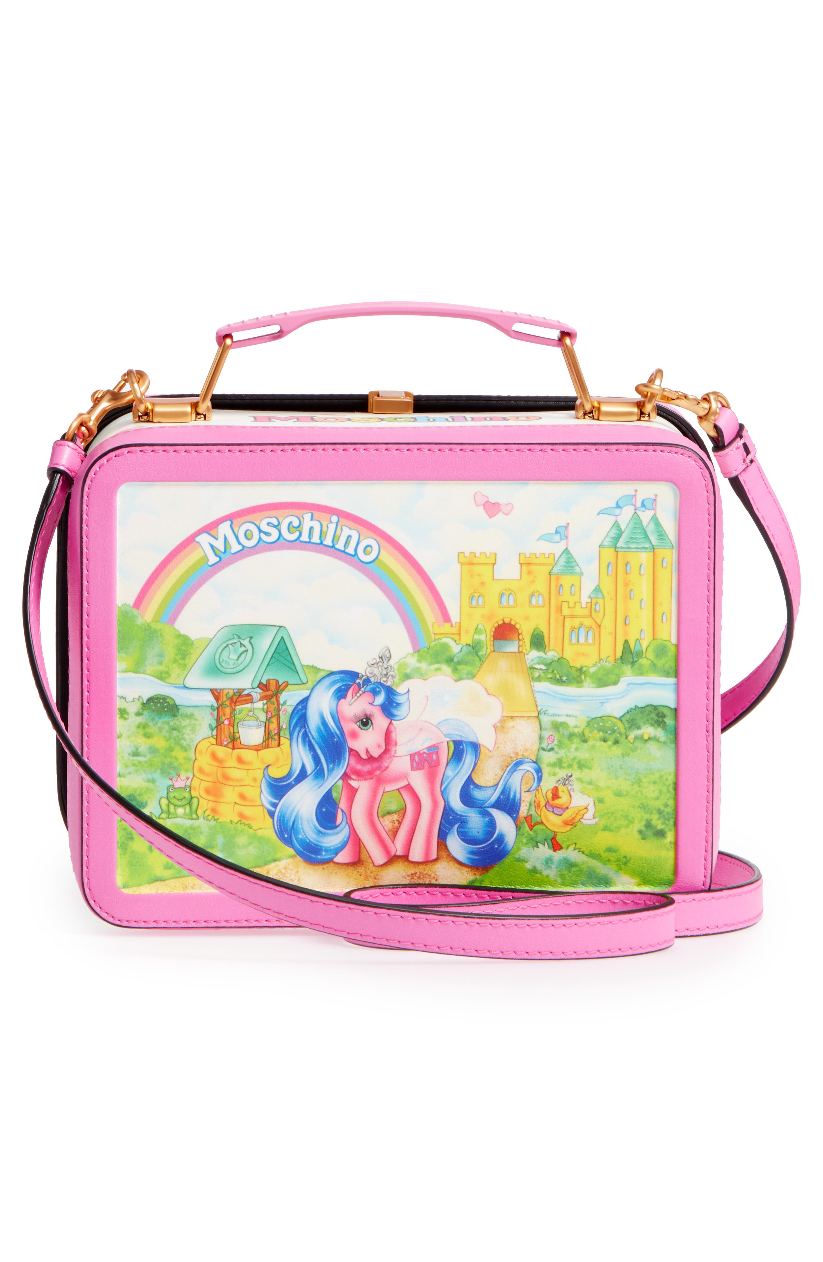 x My Little Pony Leather Lunch Box,                             Alternate thumbnail 3, color,                             Pink