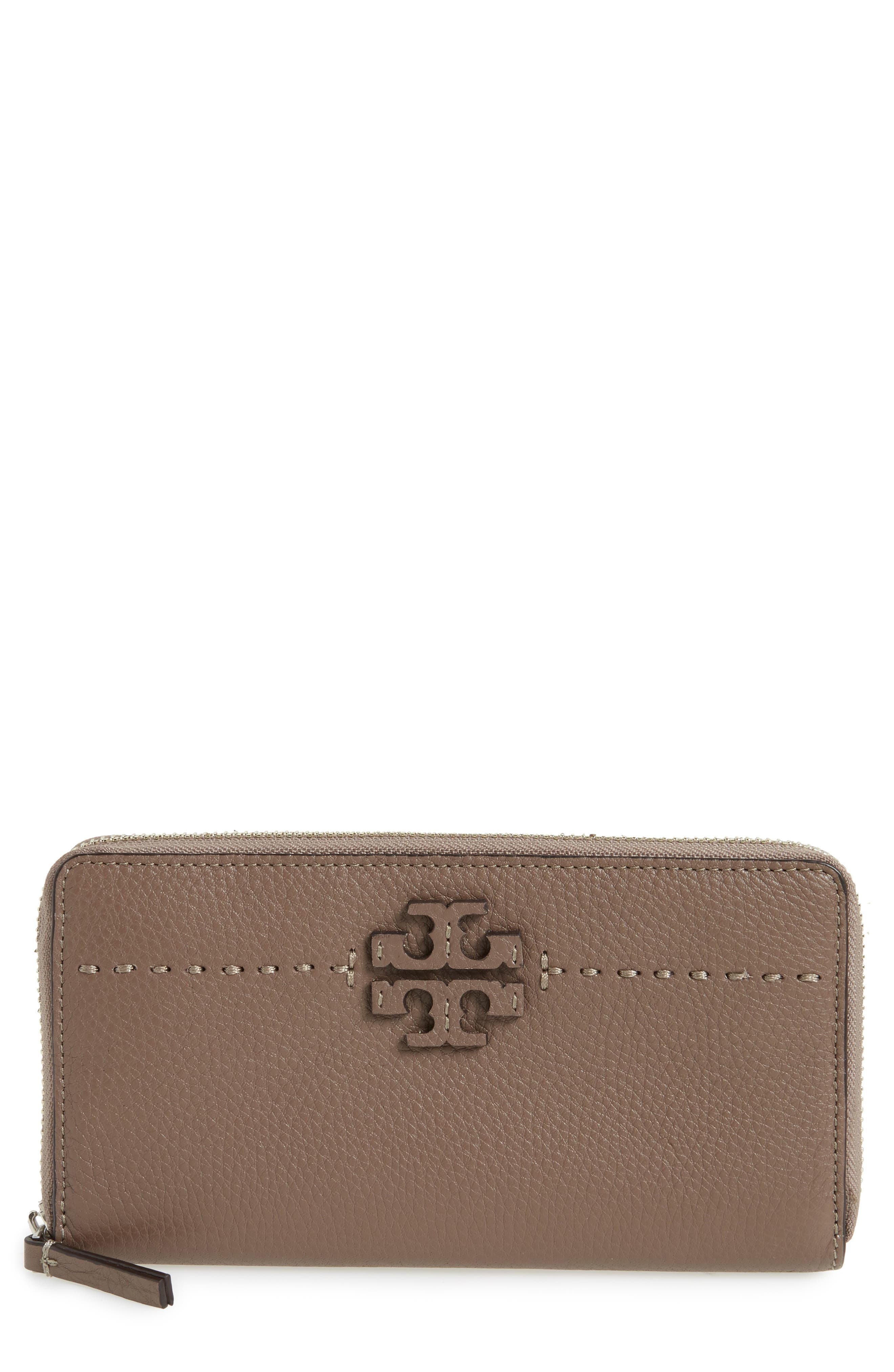 Alternate Image 1 Selected - Tory Burch McGraw Leather Continental Zip Wallet