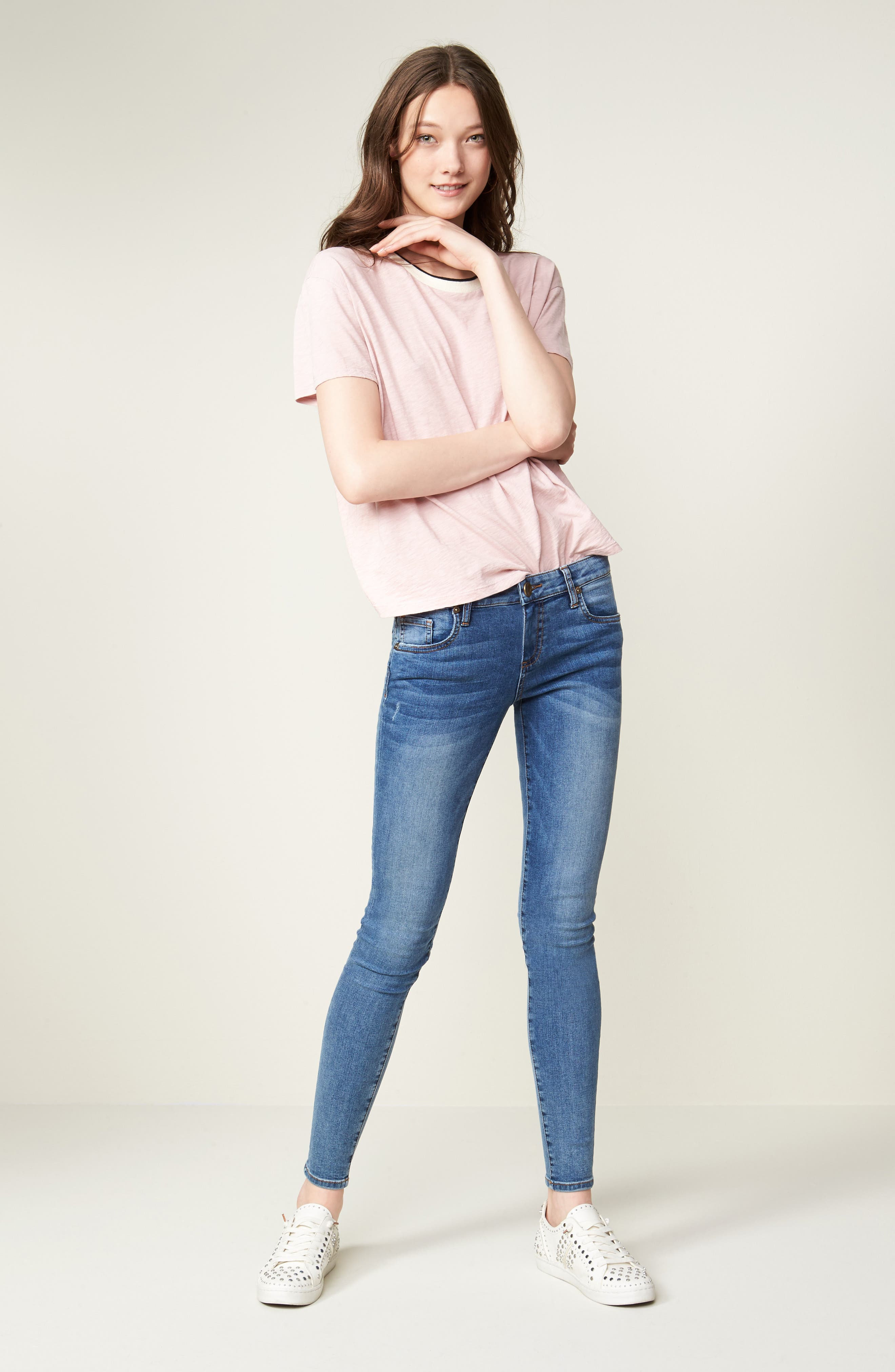Alternate Image 8  - KUT from the Kloth Donna Skinny Jeans (Venturesome)