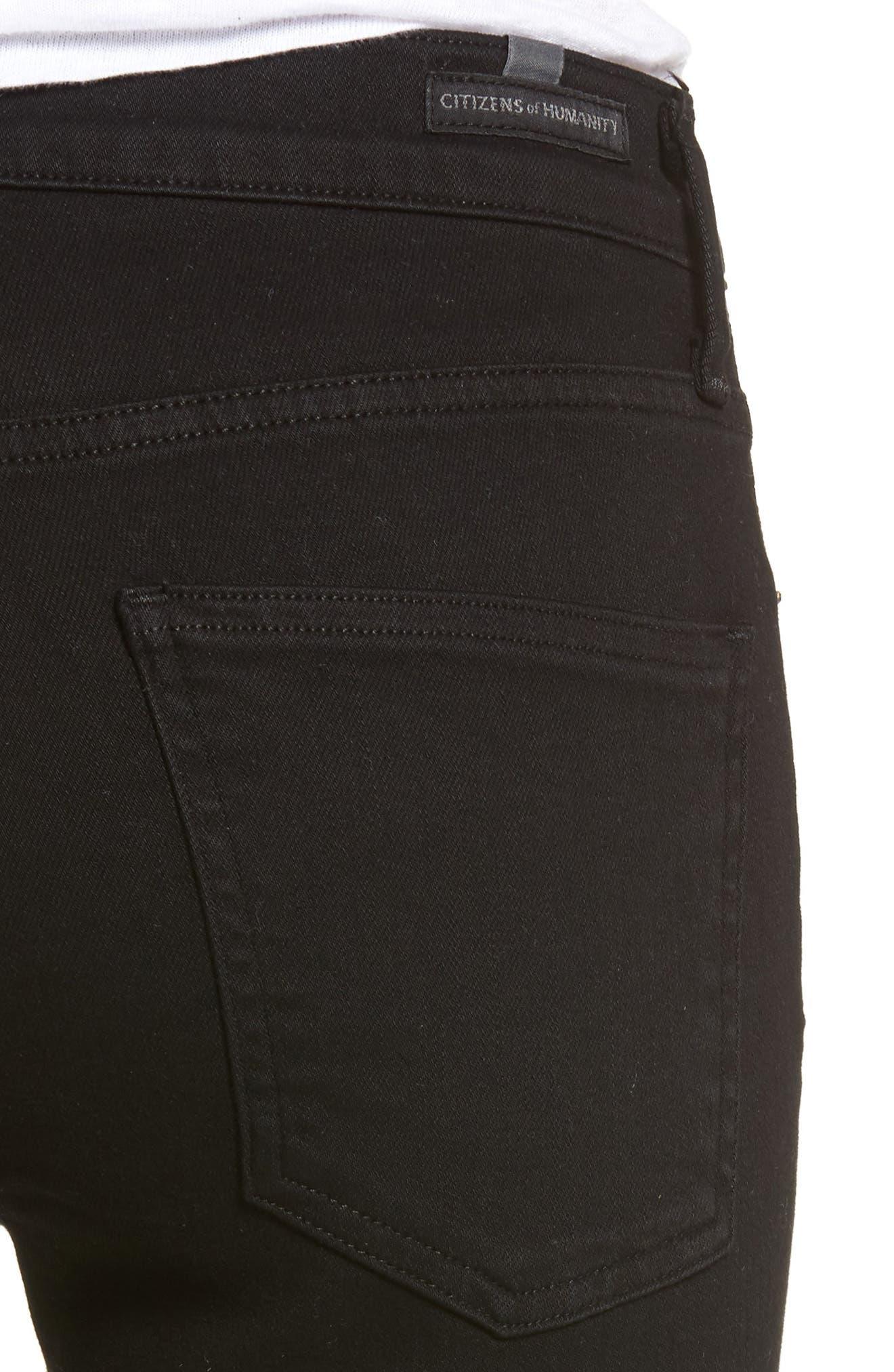Rocket Skinny Jeans,                             Alternate thumbnail 4, color,                             Blackbird