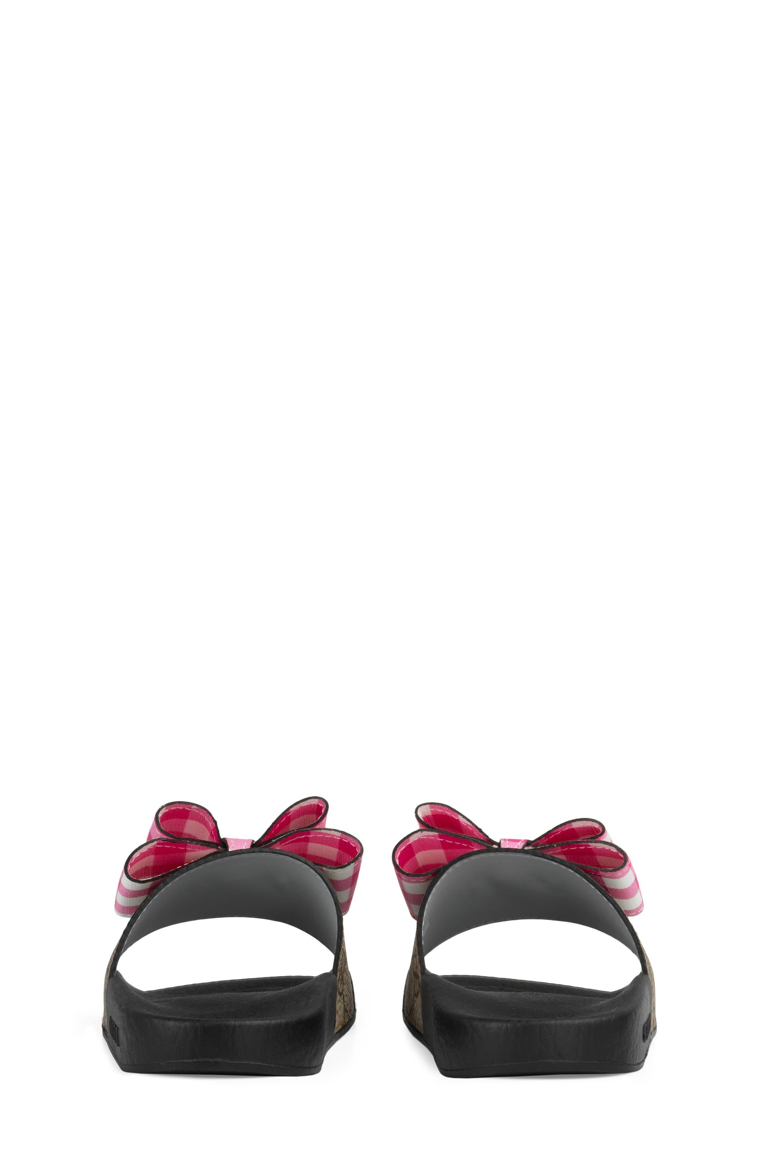 Pursuit Bow Slide,                             Alternate thumbnail 2, color,                             Beige/ Pink