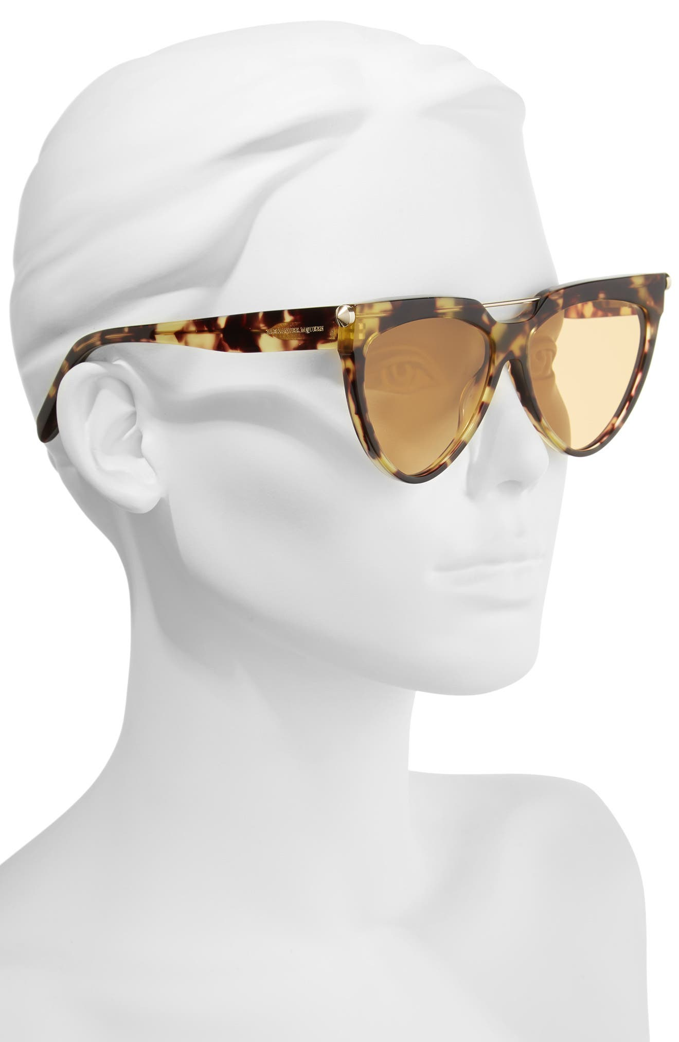58mm Cat Eye Sunglasses,                             Alternate thumbnail 2, color,                             Avana