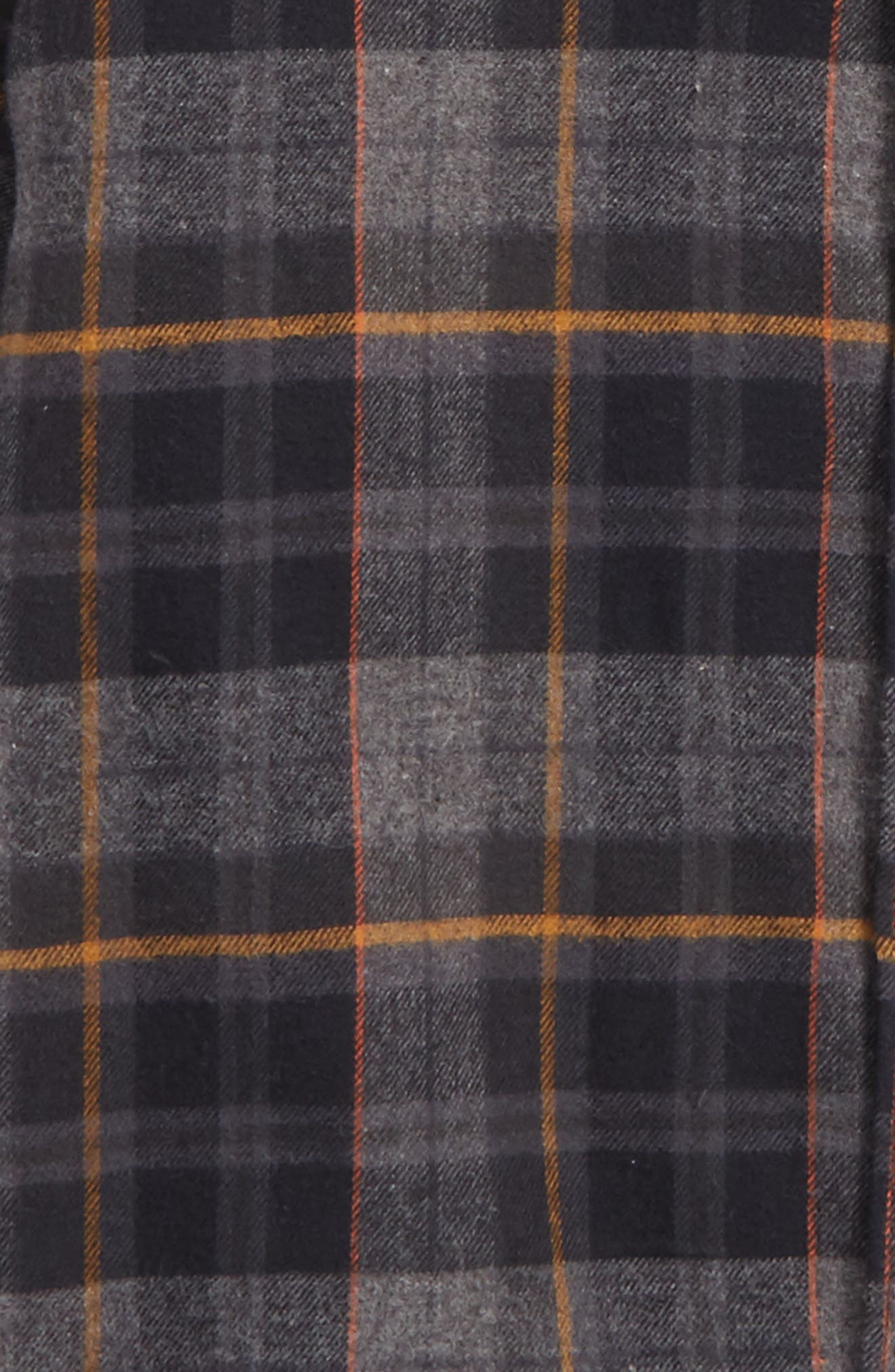 Coastline Plaid Flannel Shirt,                             Alternate thumbnail 2, color,                             Black