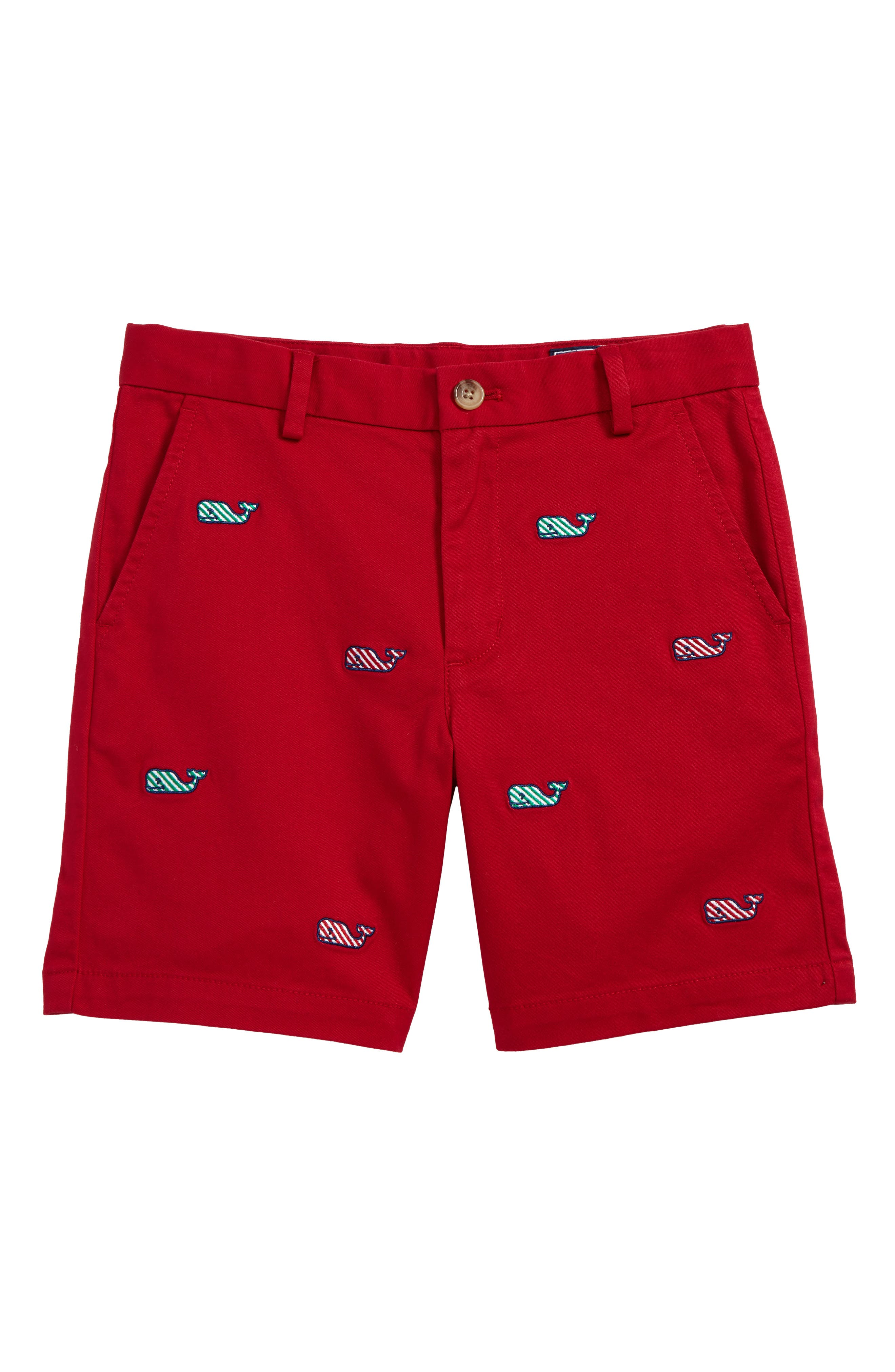 Main Image - vineyard vines Candy Cane Whale Breaker Shorts (Toddler Boys & Little Boys)