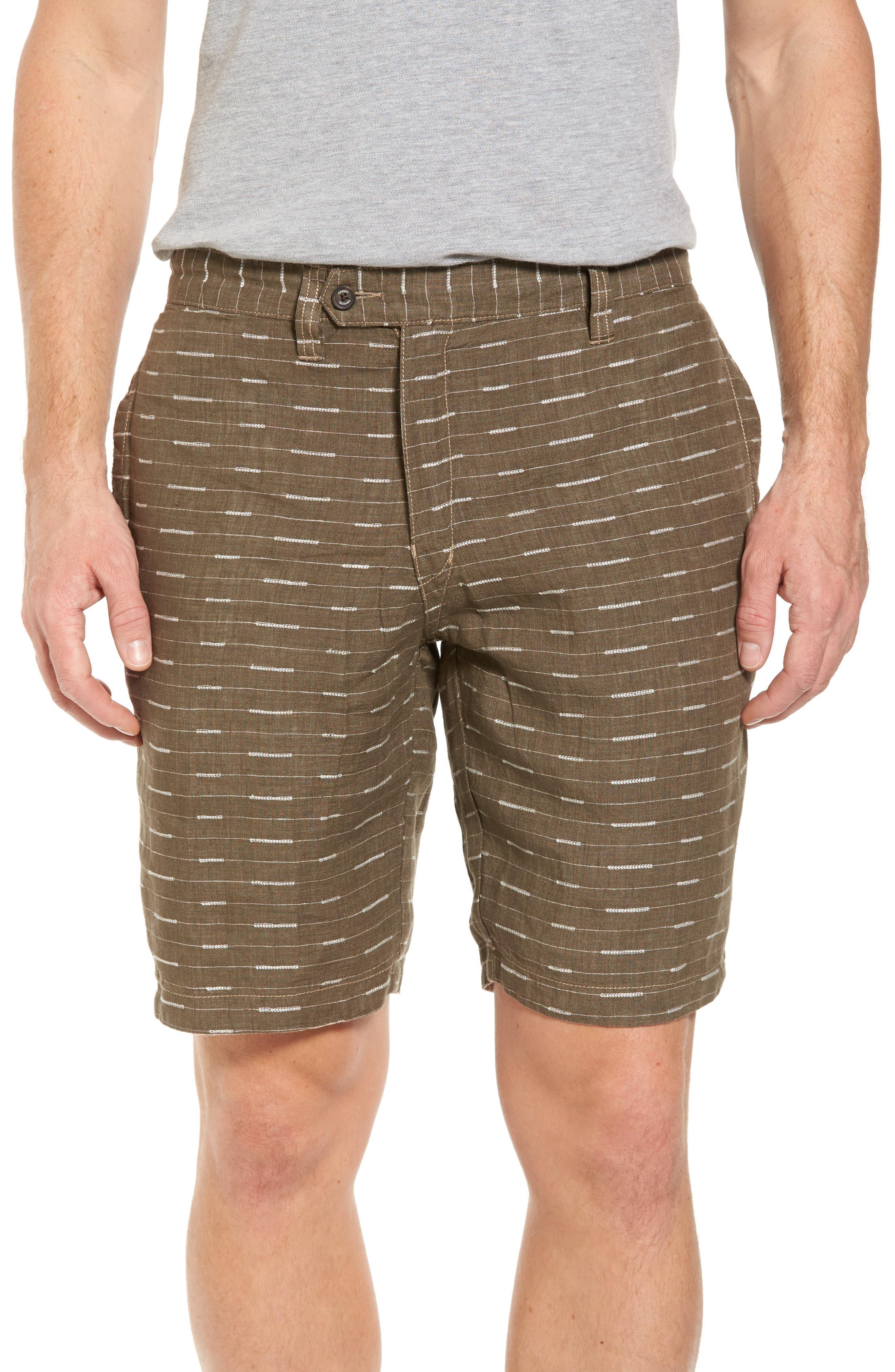 Plaid De Leon Reversible Shorts,                             Alternate thumbnail 4, color,                             Stone Khaki
