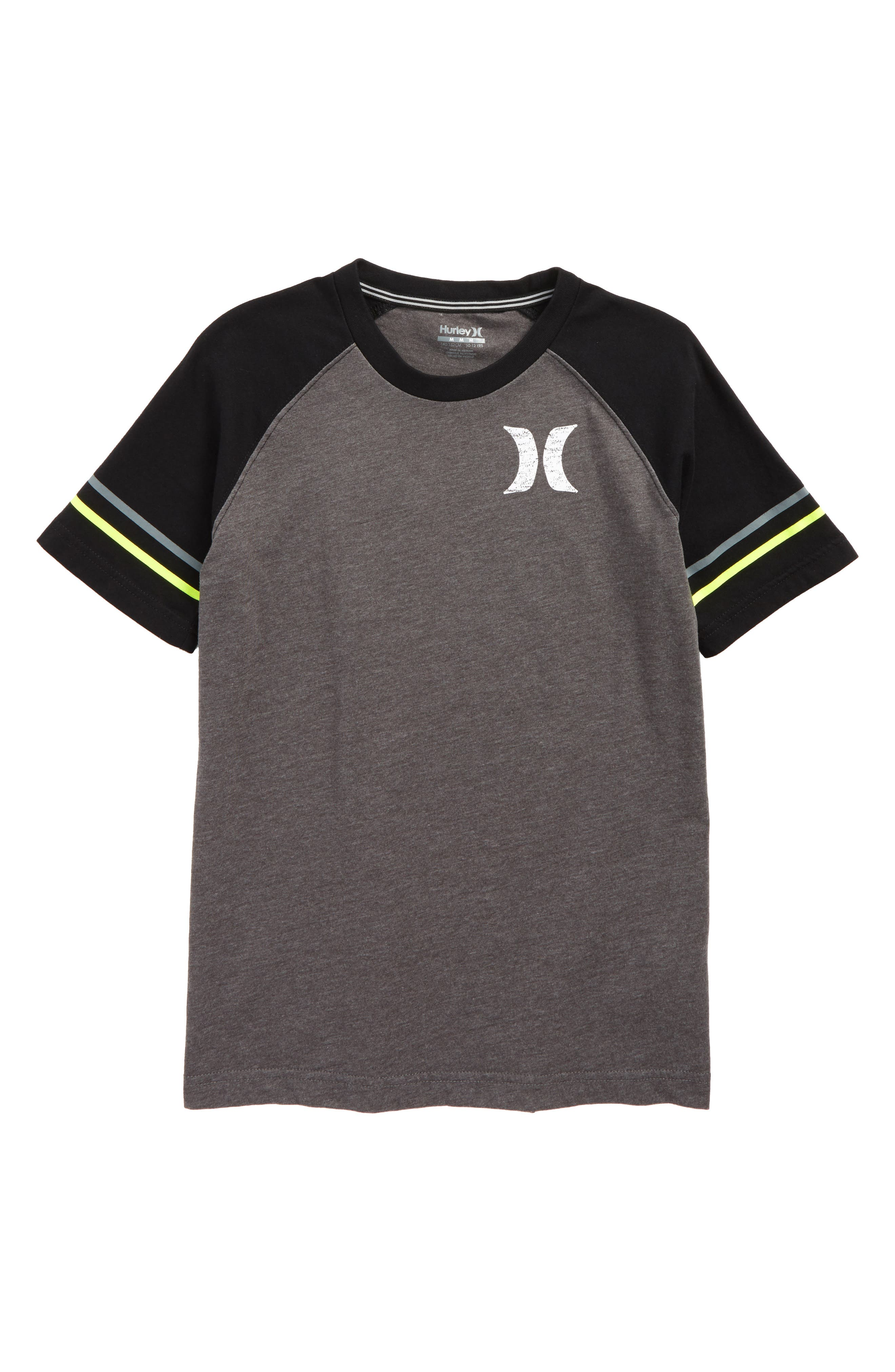 Athletic Raglan T-Shirt,                         Main,                         color, Charcoal Heather