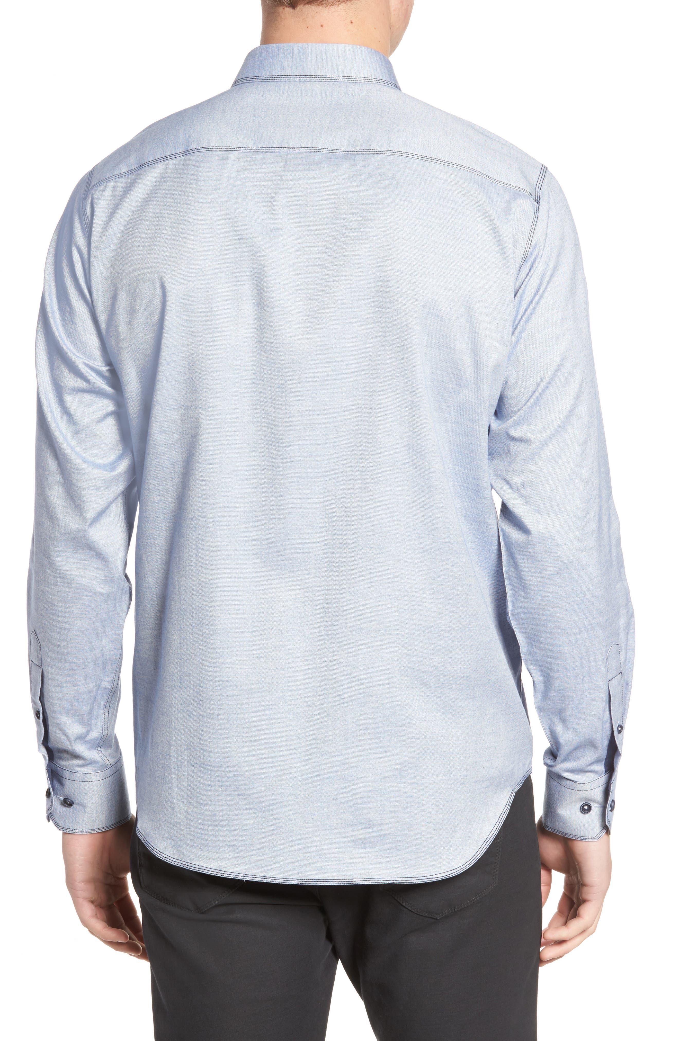 Classic Fit Sport Shirt,                             Alternate thumbnail 2, color,                             Sky