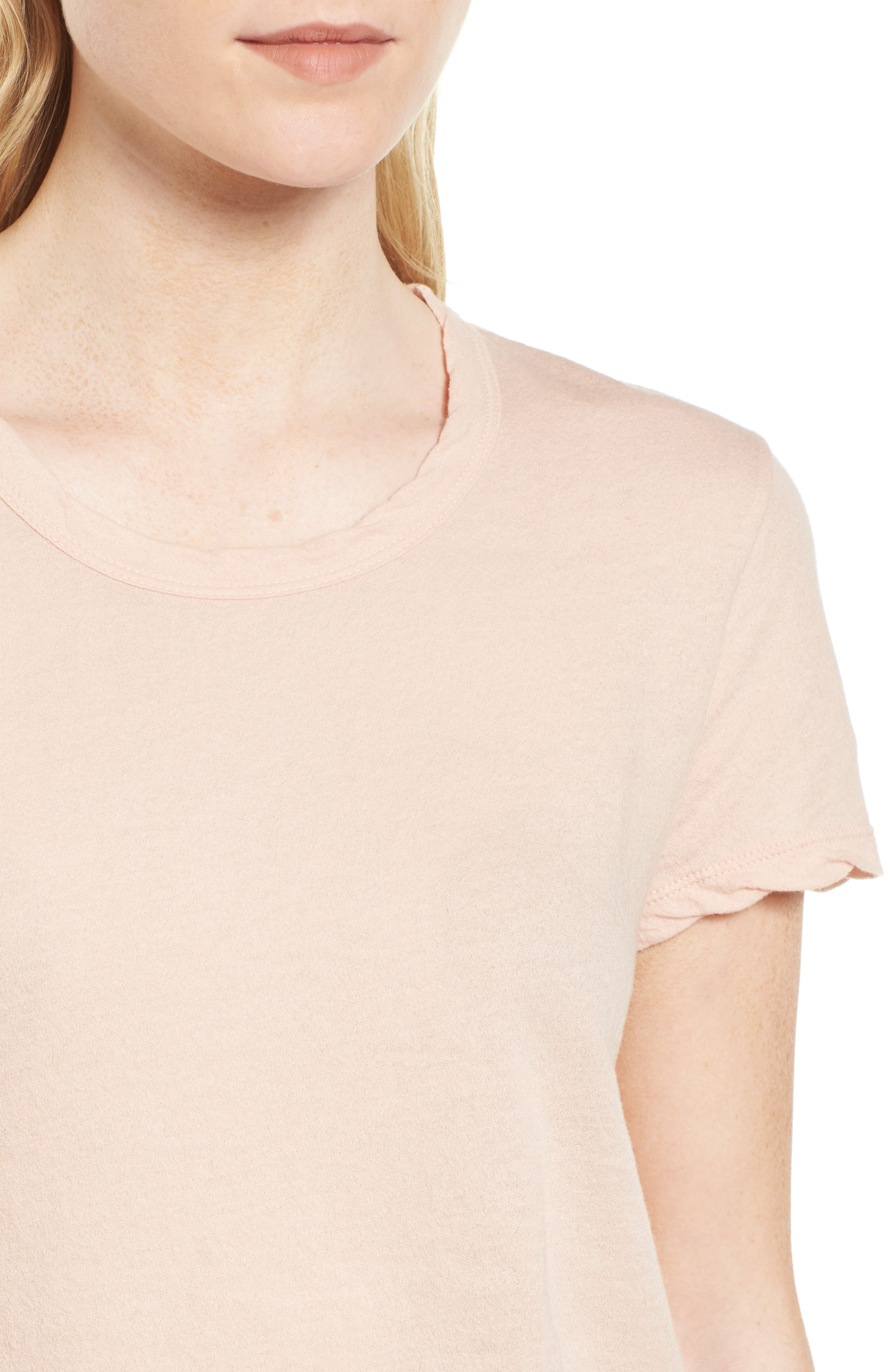 Crepe Jersey Tee,                             Alternate thumbnail 4, color,                             Luster