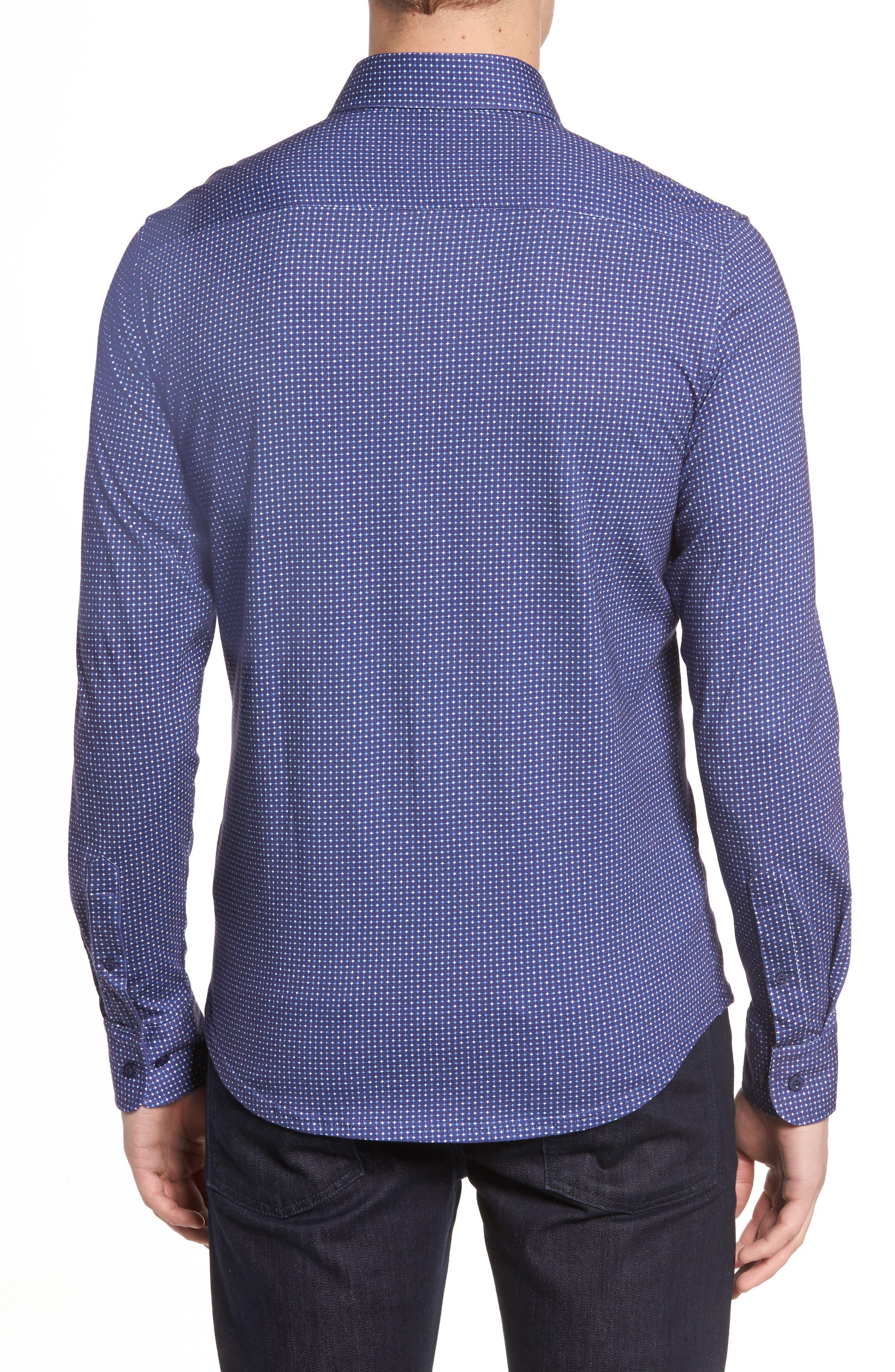 Alternate Image 2  - Stone Rose Star Geo Print Jersey Sport Shirt