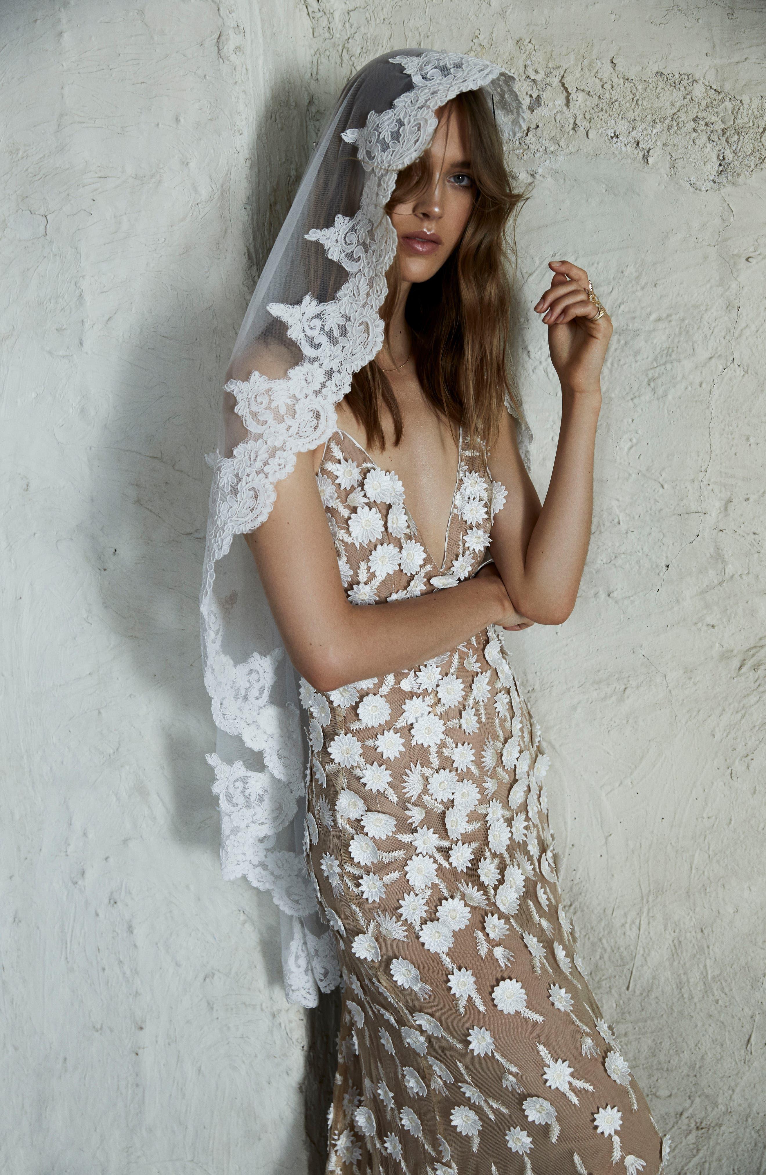 Alternate Image 5  - For Love & Lemons Marguerite Floral Petal Gown