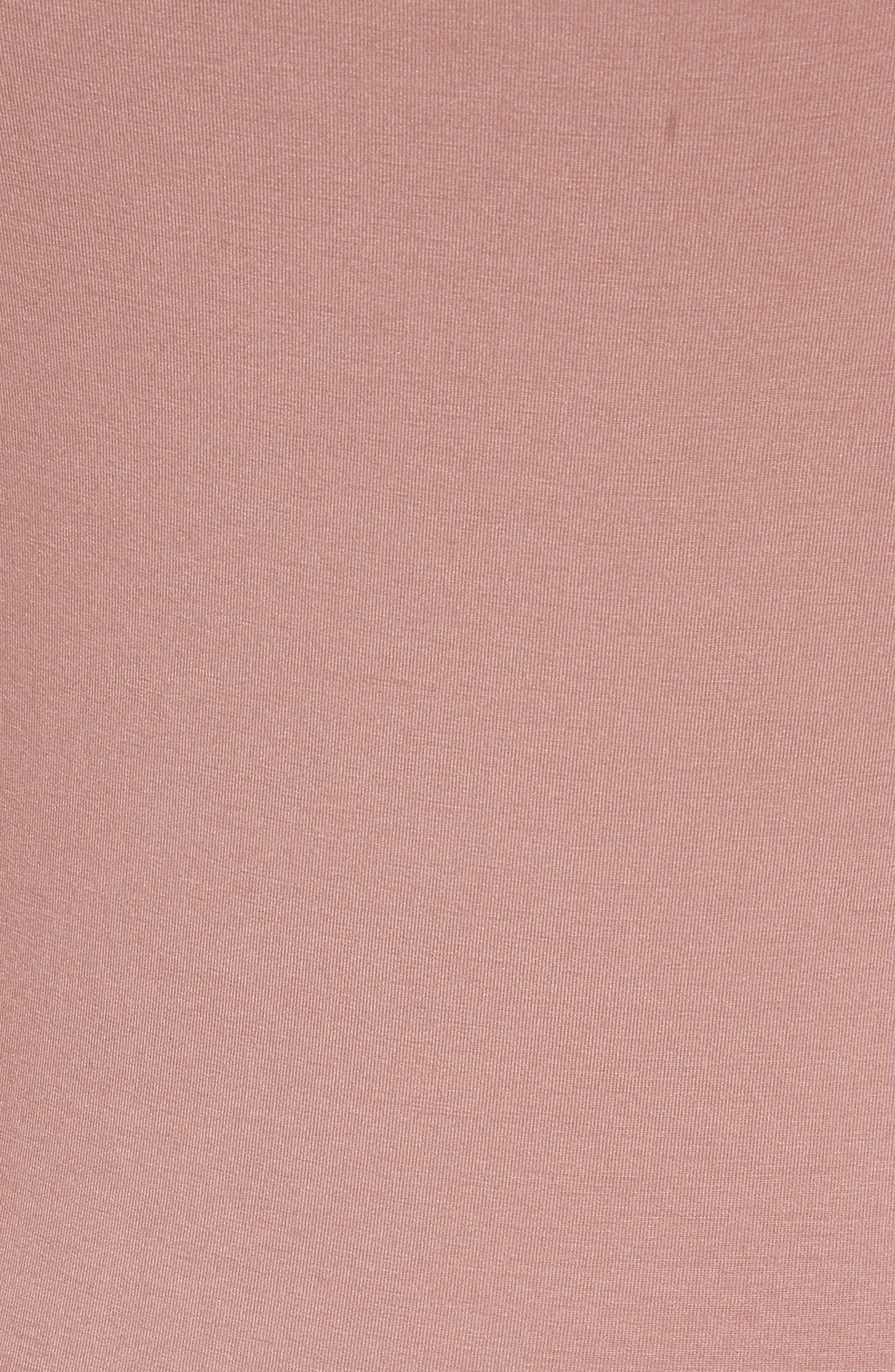 Stretch Jersey Cold Shoulder Dress,                             Alternate thumbnail 5, color,                             Guava