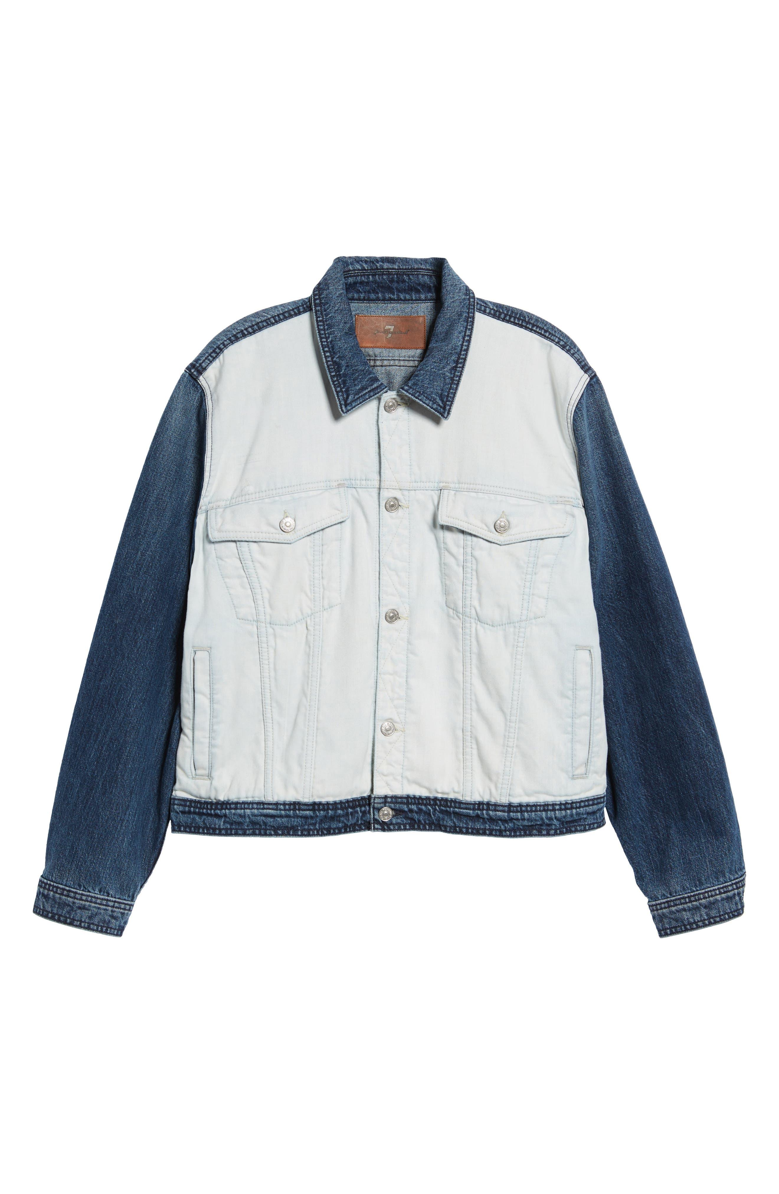 Inside Out Trucker Jacket,                             Alternate thumbnail 6, color,                             Vintage Blue