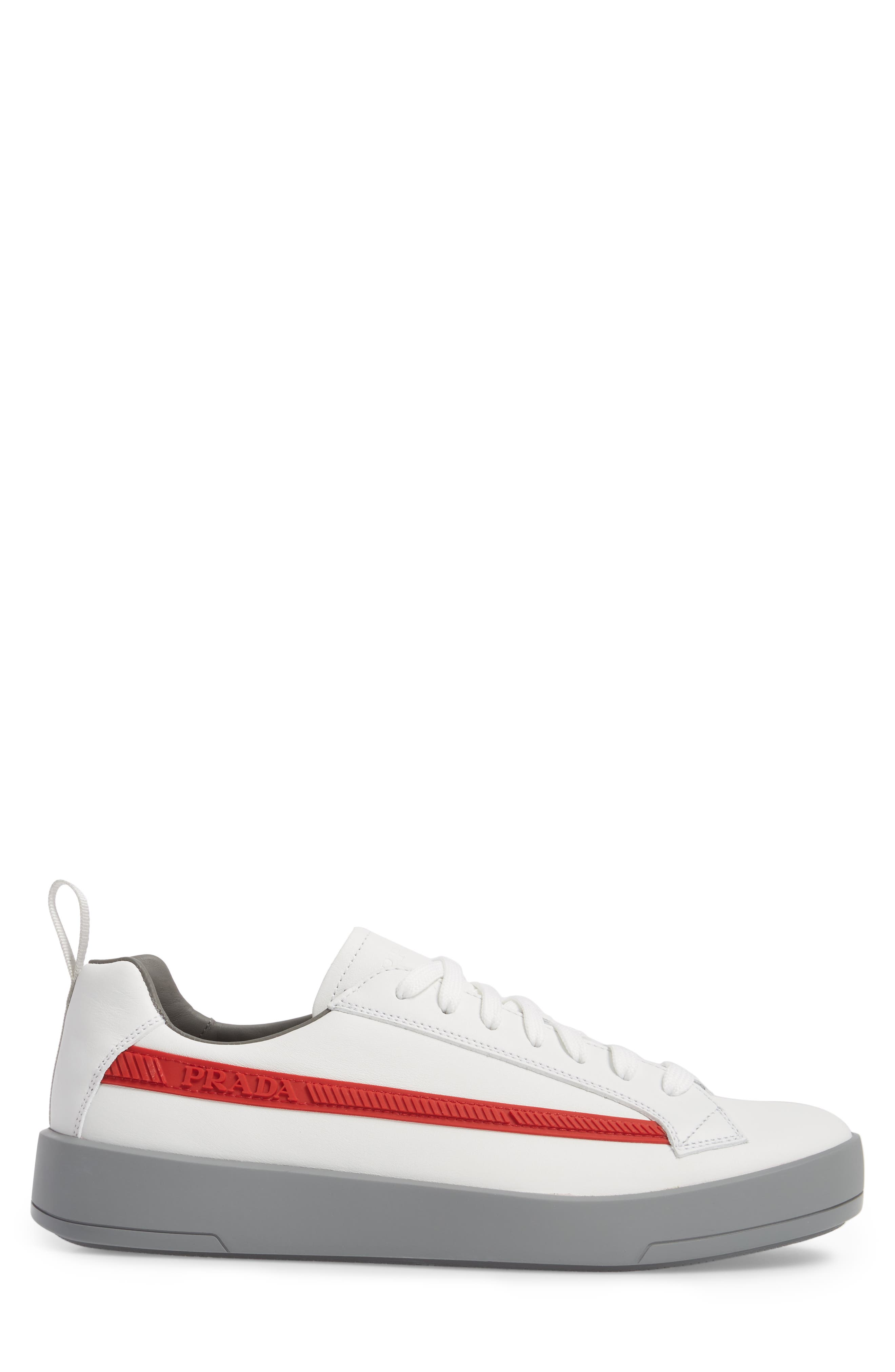 Linea Rossa Sneaker,                             Alternate thumbnail 3, color,                             Bianco