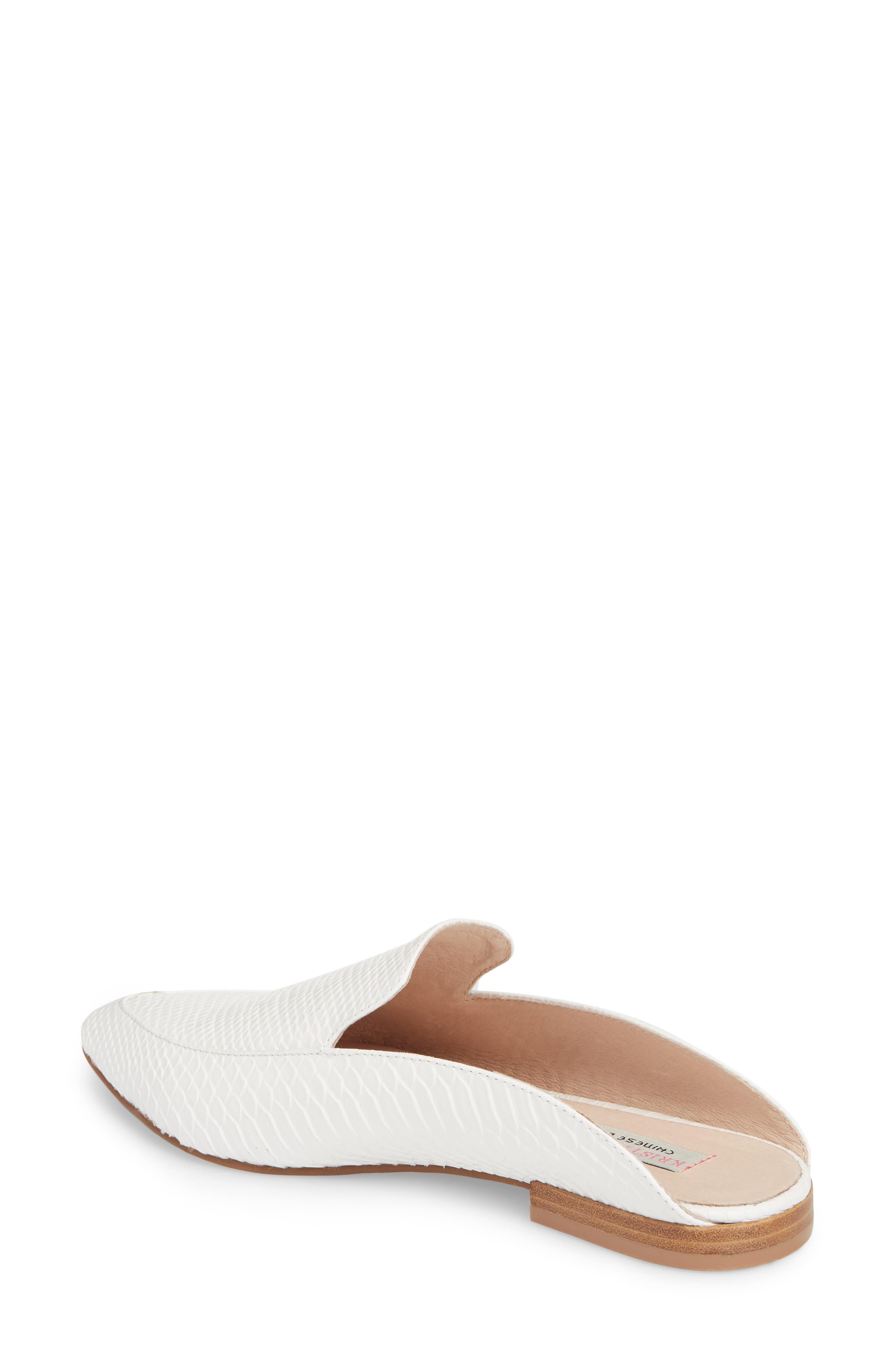 'Capri' Mule,                             Alternate thumbnail 2, color,                             White Leather