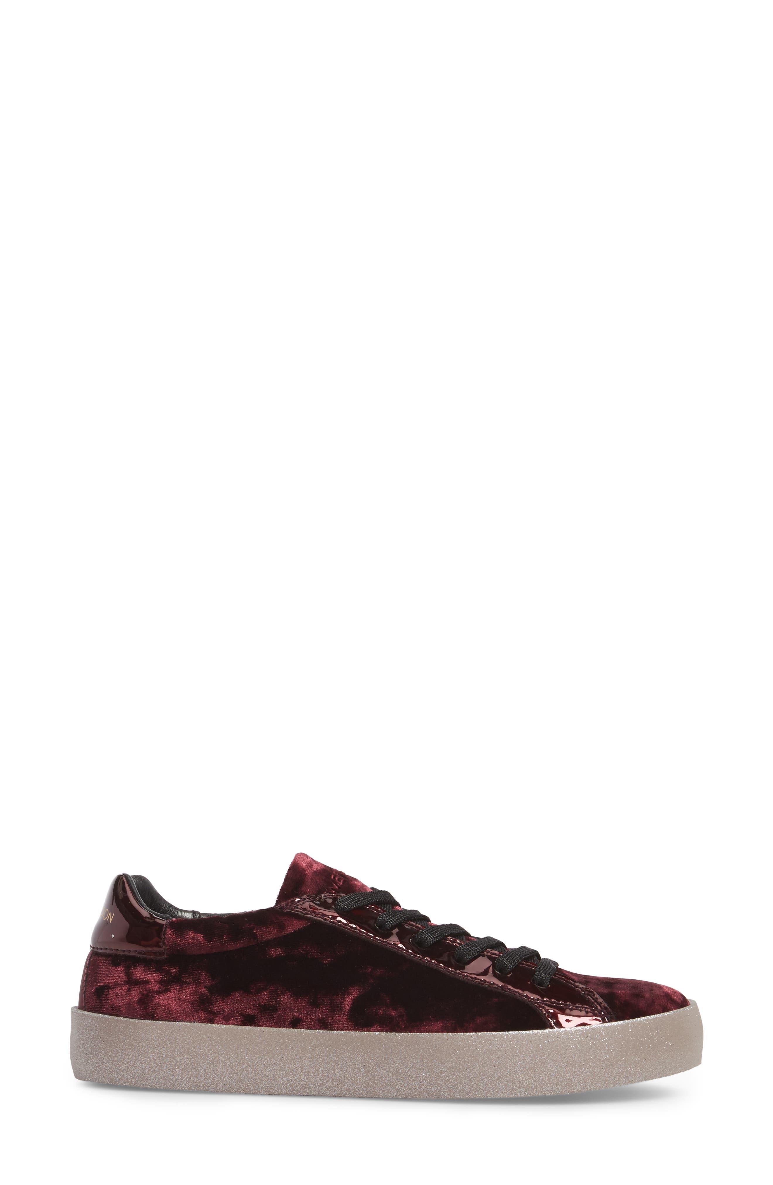 Dynamite Sneaker,                             Alternate thumbnail 3, color,                             Burgundy