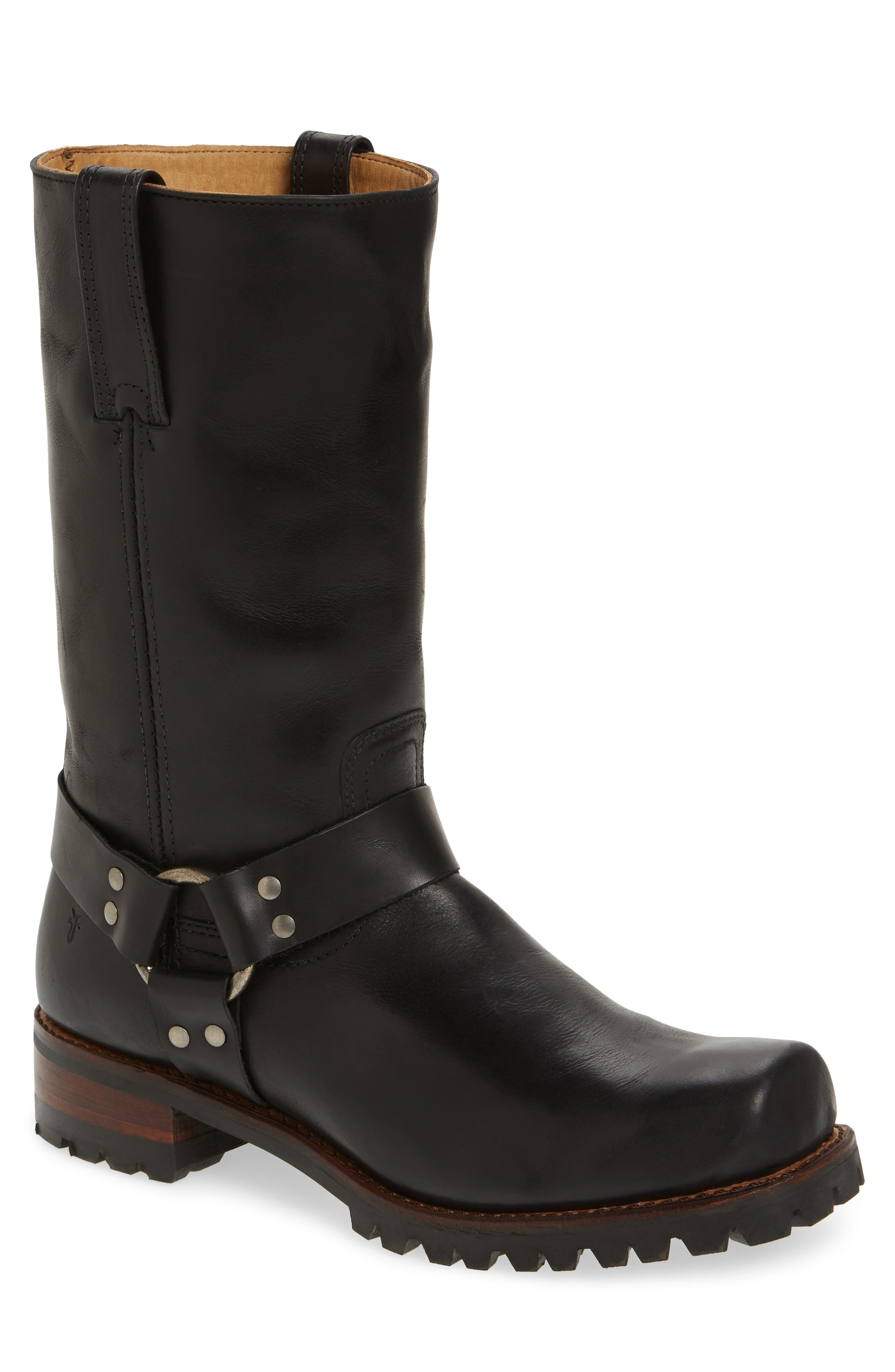 Addison Waterproof Harness Boot,                             Main thumbnail 1, color,                             Black Leather