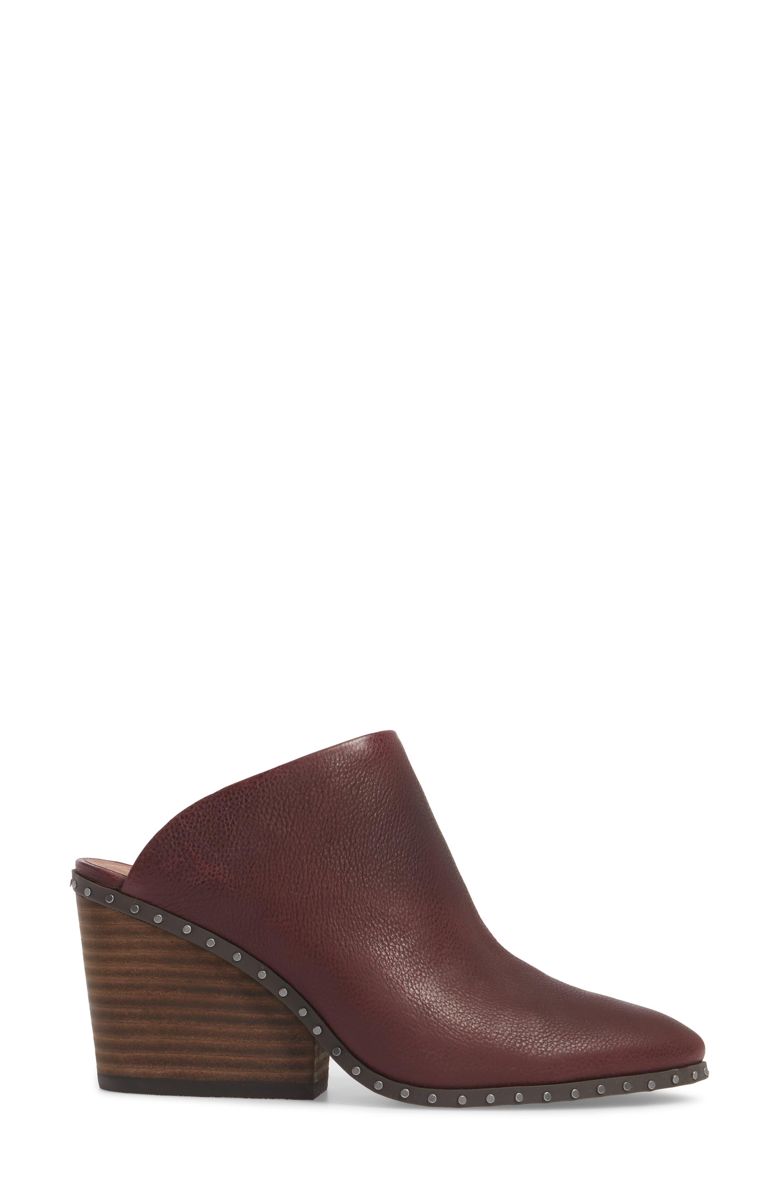 Larsson2 Studded Mule,                             Alternate thumbnail 3, color,                             Tawny Port Leather