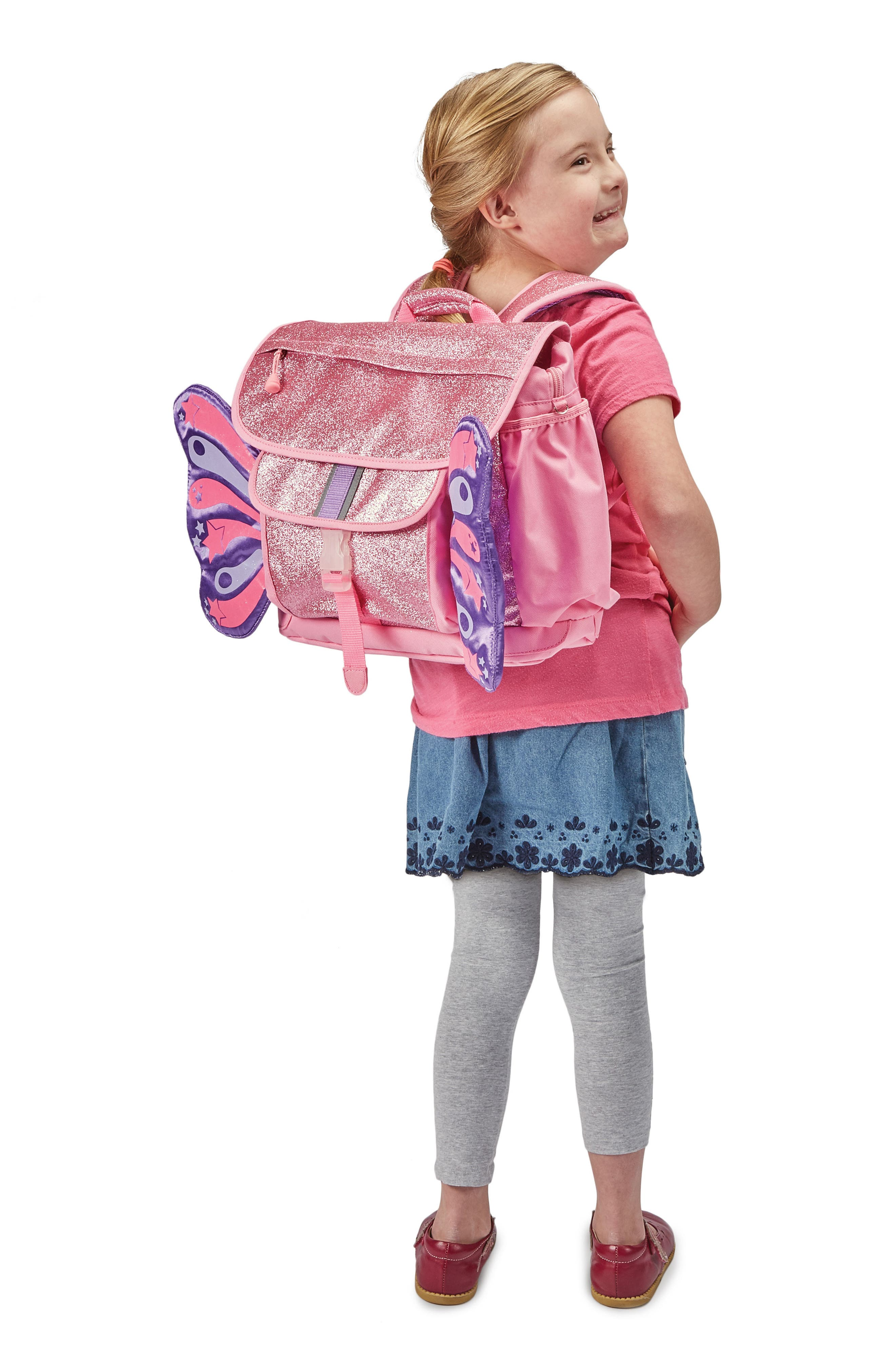 Sparkalicious Butterflyer Backpack,                             Alternate thumbnail 4, color,                             Pink