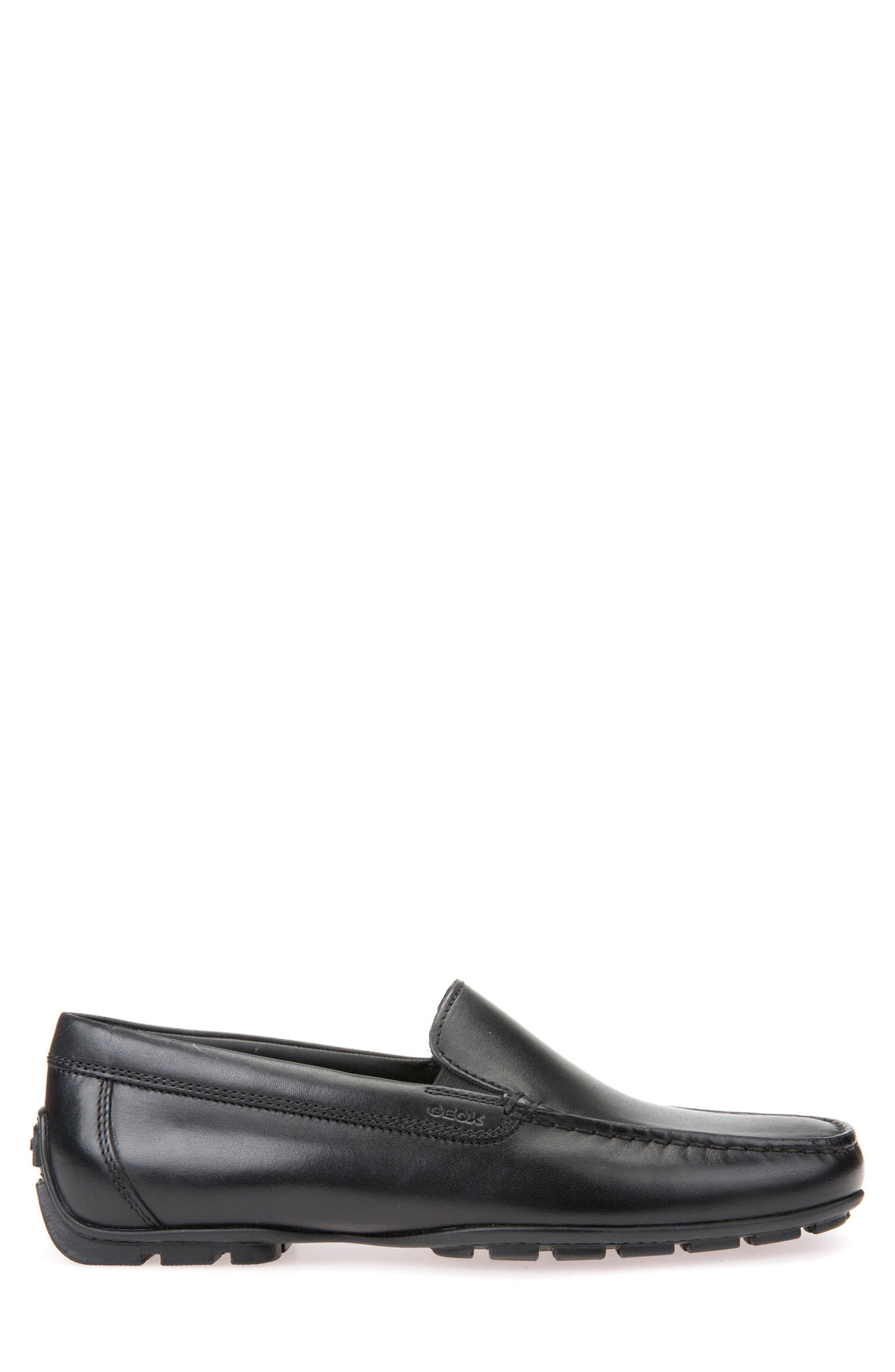 Moner 2Fit 2 Driving Moccasin,                             Alternate thumbnail 3, color,                             Black Leather