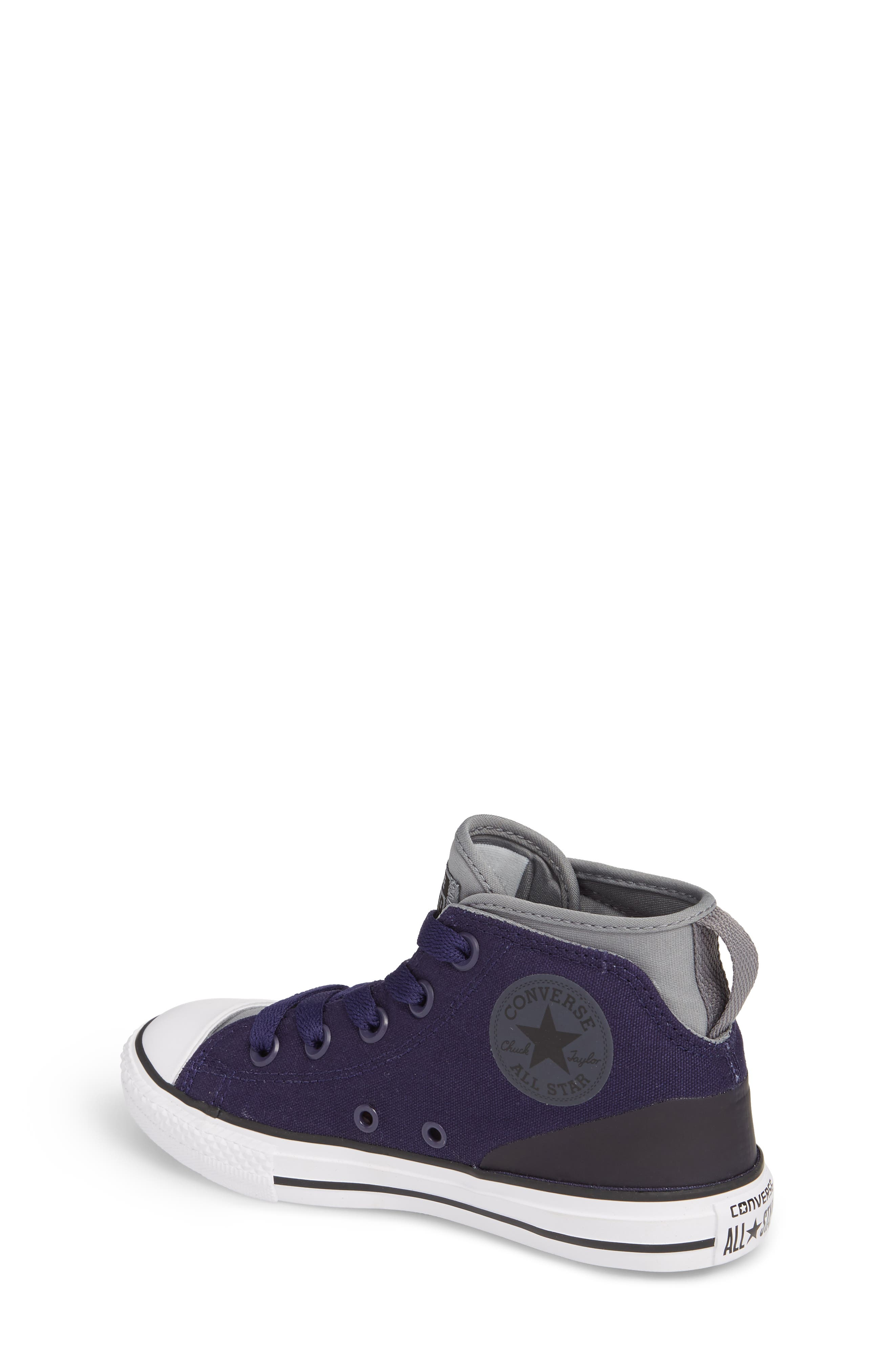 Chuck Taylor<sup>®</sup> All Star<sup>®</sup> Syde Street High Top Sneaker,                             Alternate thumbnail 2, color,                             Midnight Canvas