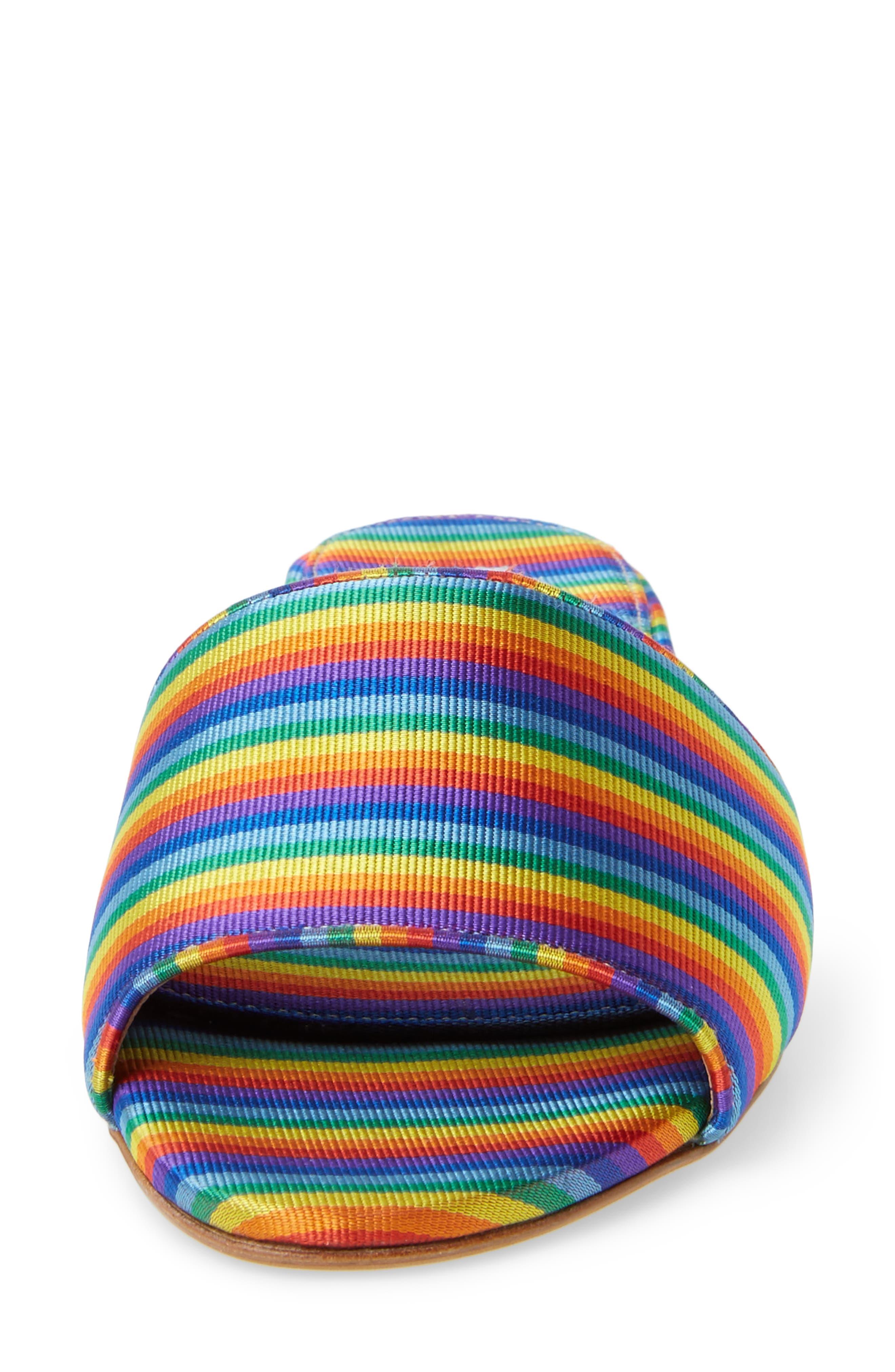 Sprinkles Slide Sandal,                             Alternate thumbnail 4, color,                             Rainbow