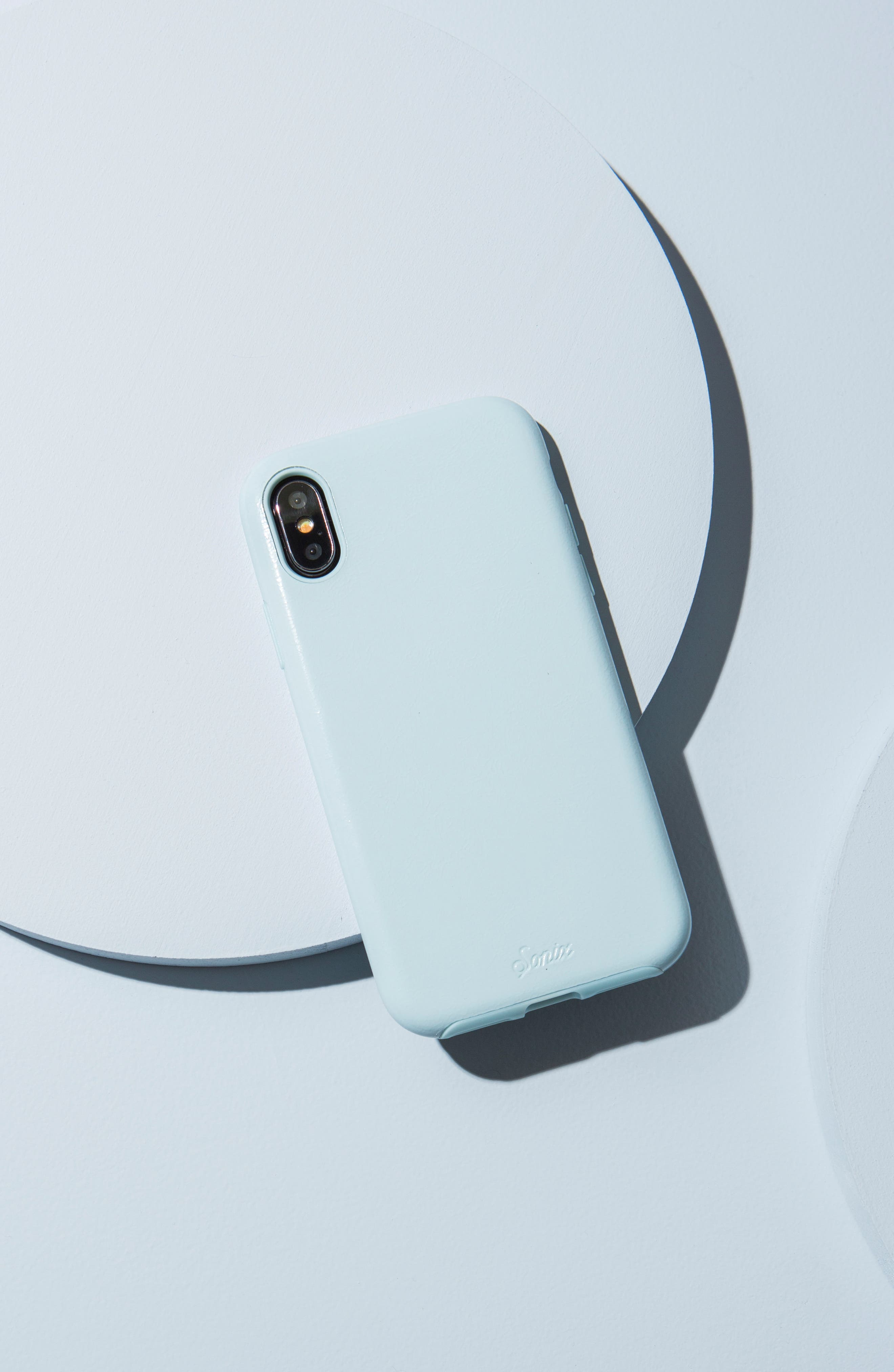 Alternate Image 3  - Sonix Powder Blue Faux Leather iPhone X Case