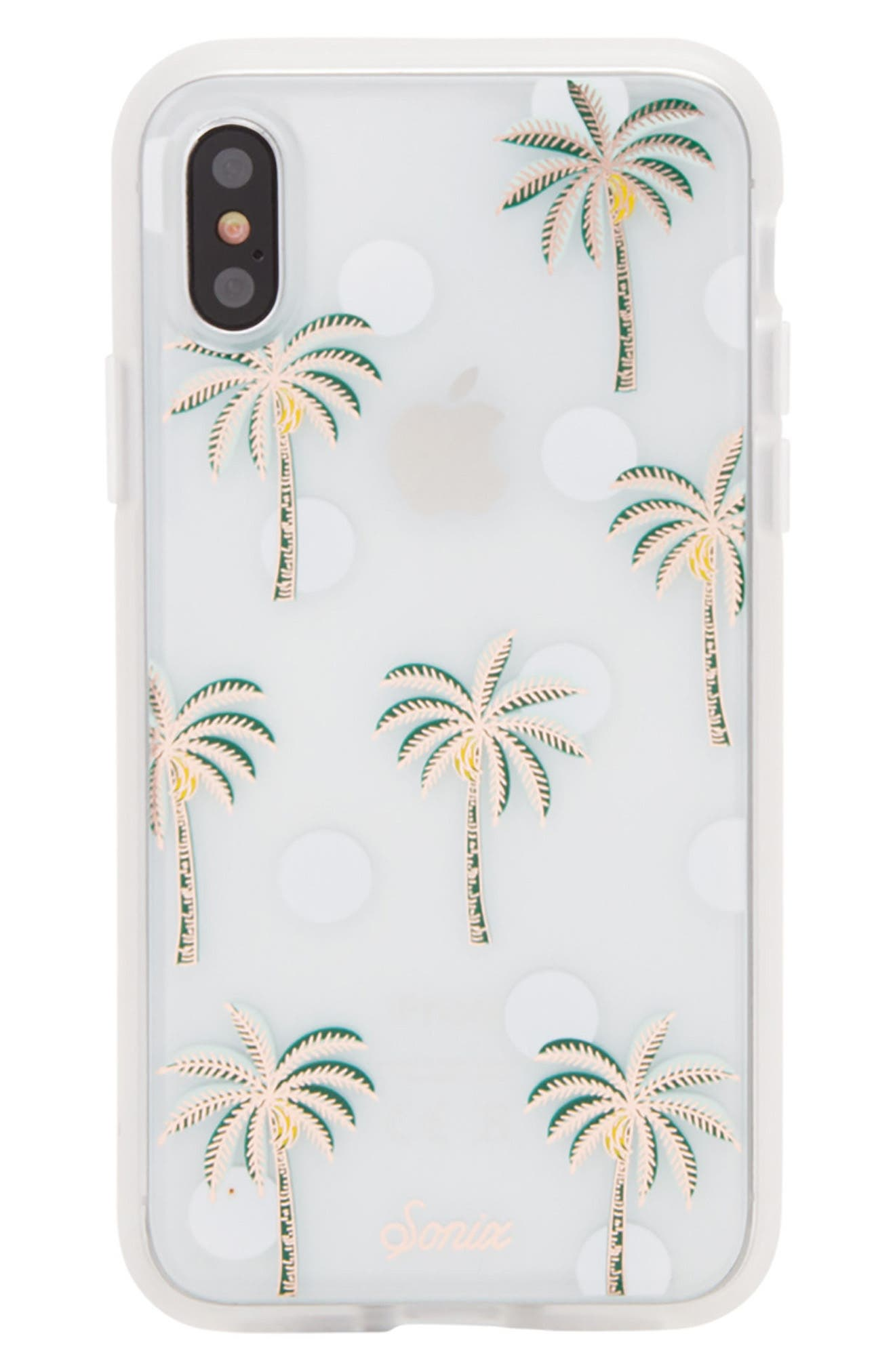Bora Bora iPhone X Case,                         Main,                         color, Green/ White