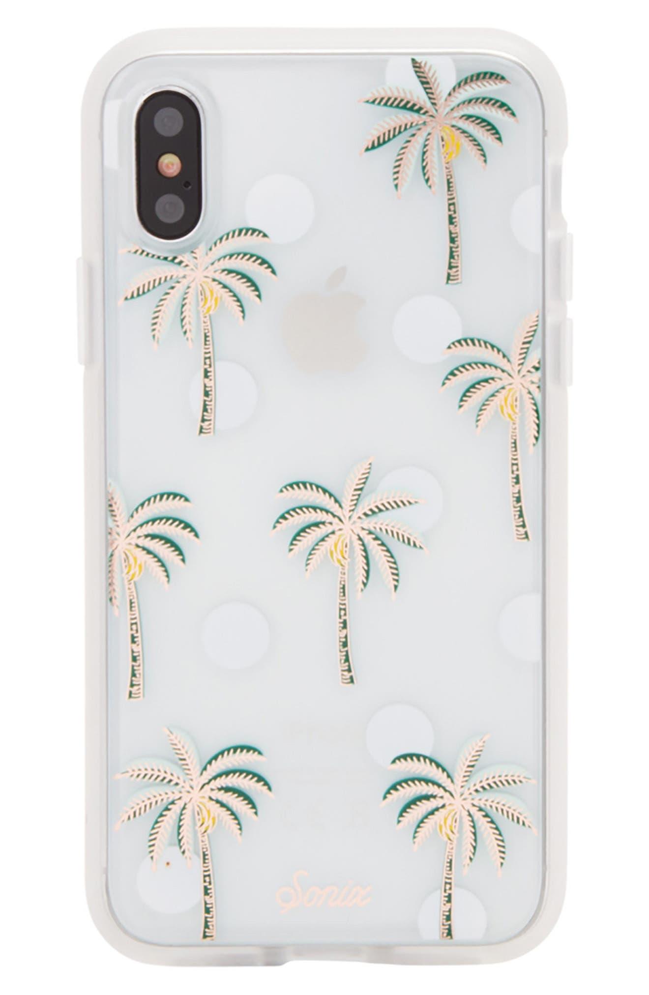 Bora Bora iPhone X Case,                         Main,                         color, Green/ White