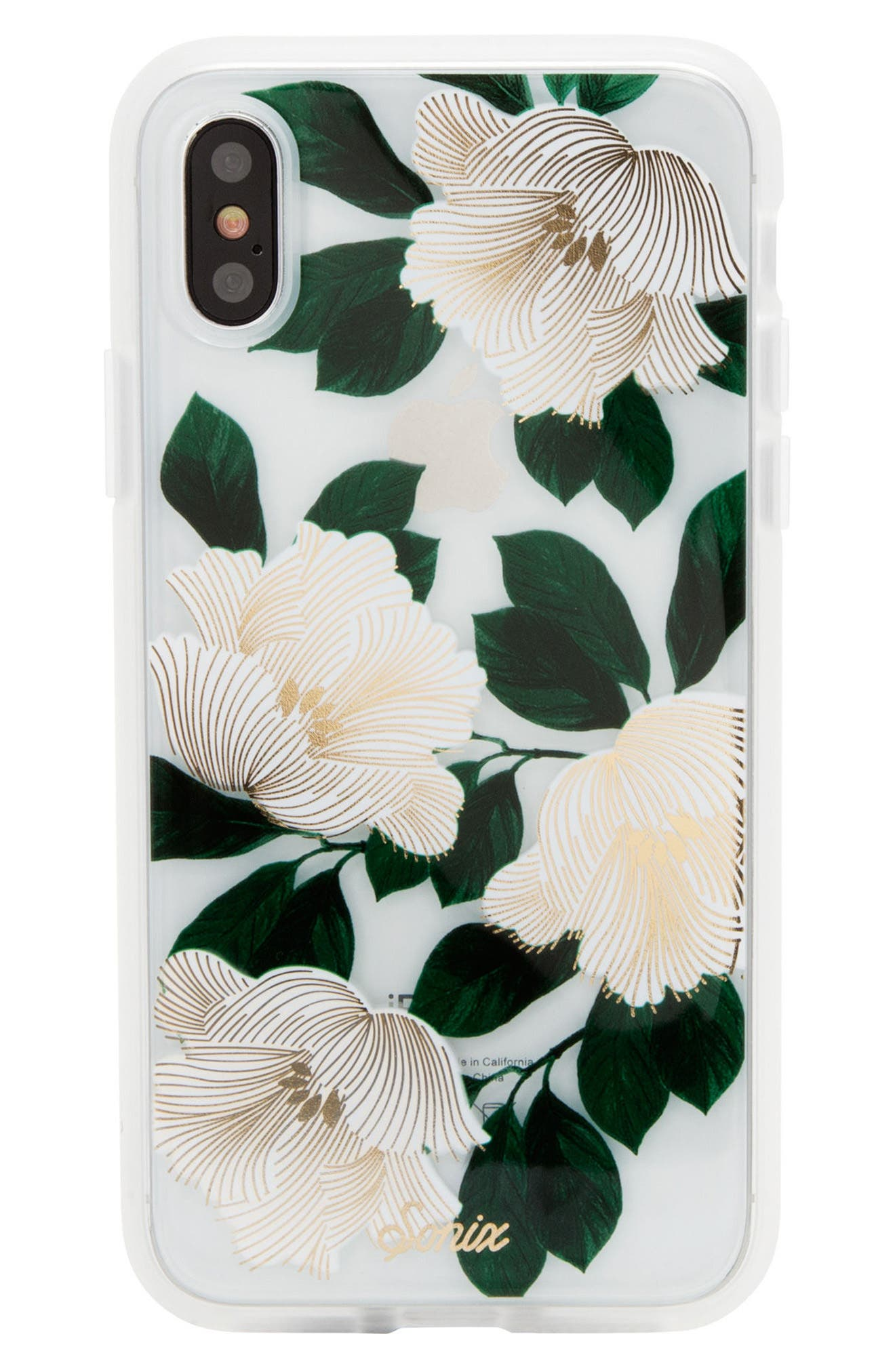 Tropical Deco iPhone X Case,                         Main,                         color, White