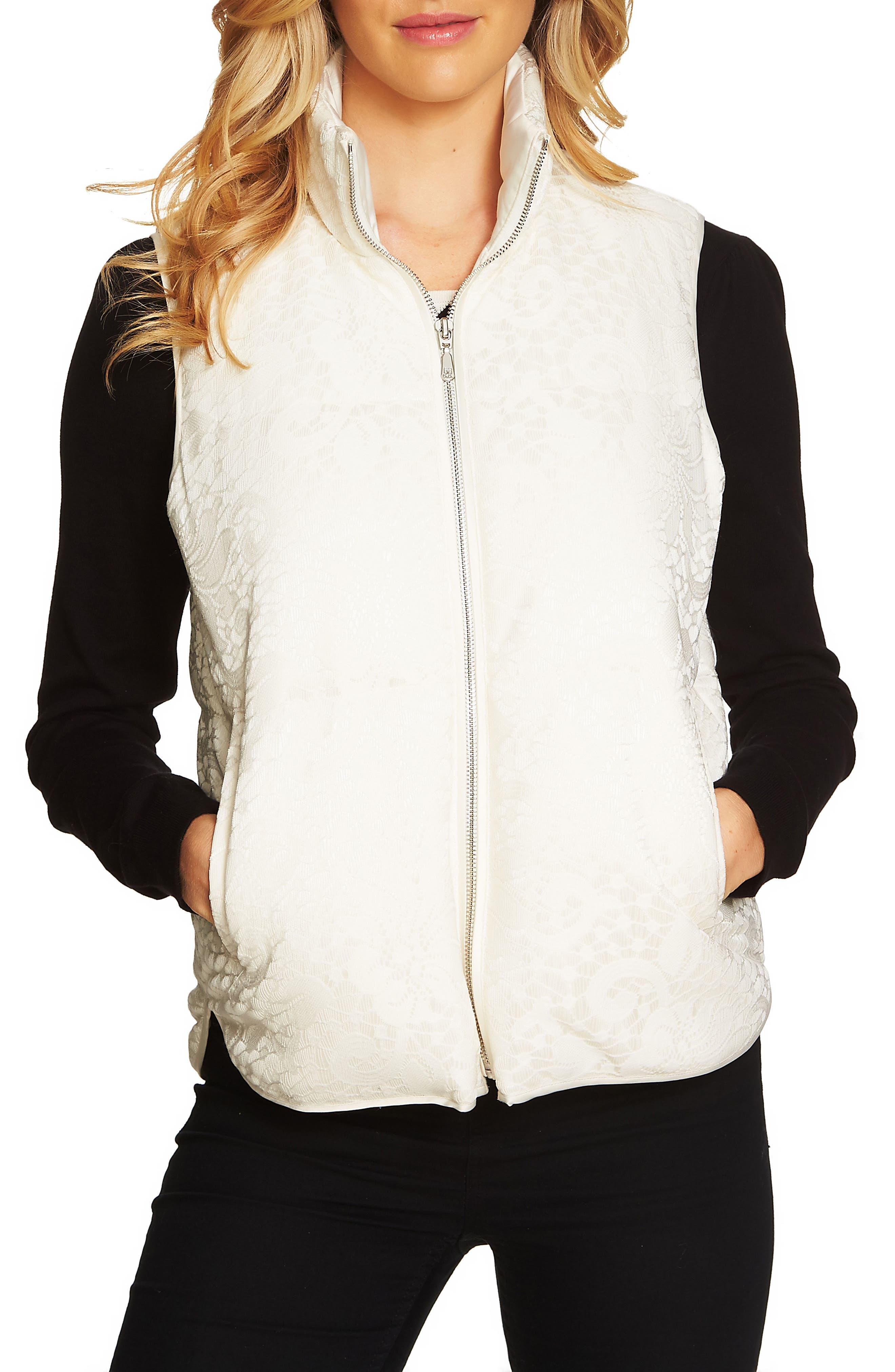 Main Image - CeCe Bonded Lace Vest
