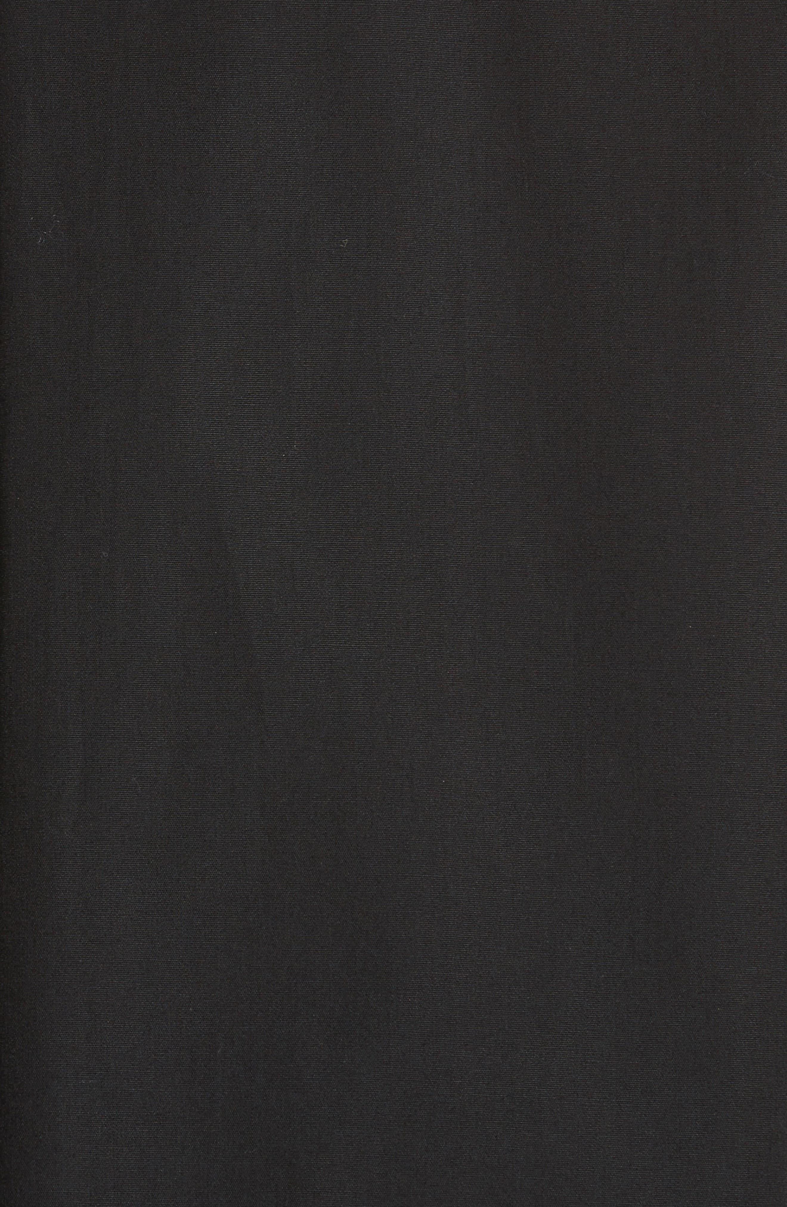 Bell Sleeve Poplin Top,                             Alternate thumbnail 6, color,                             Nero