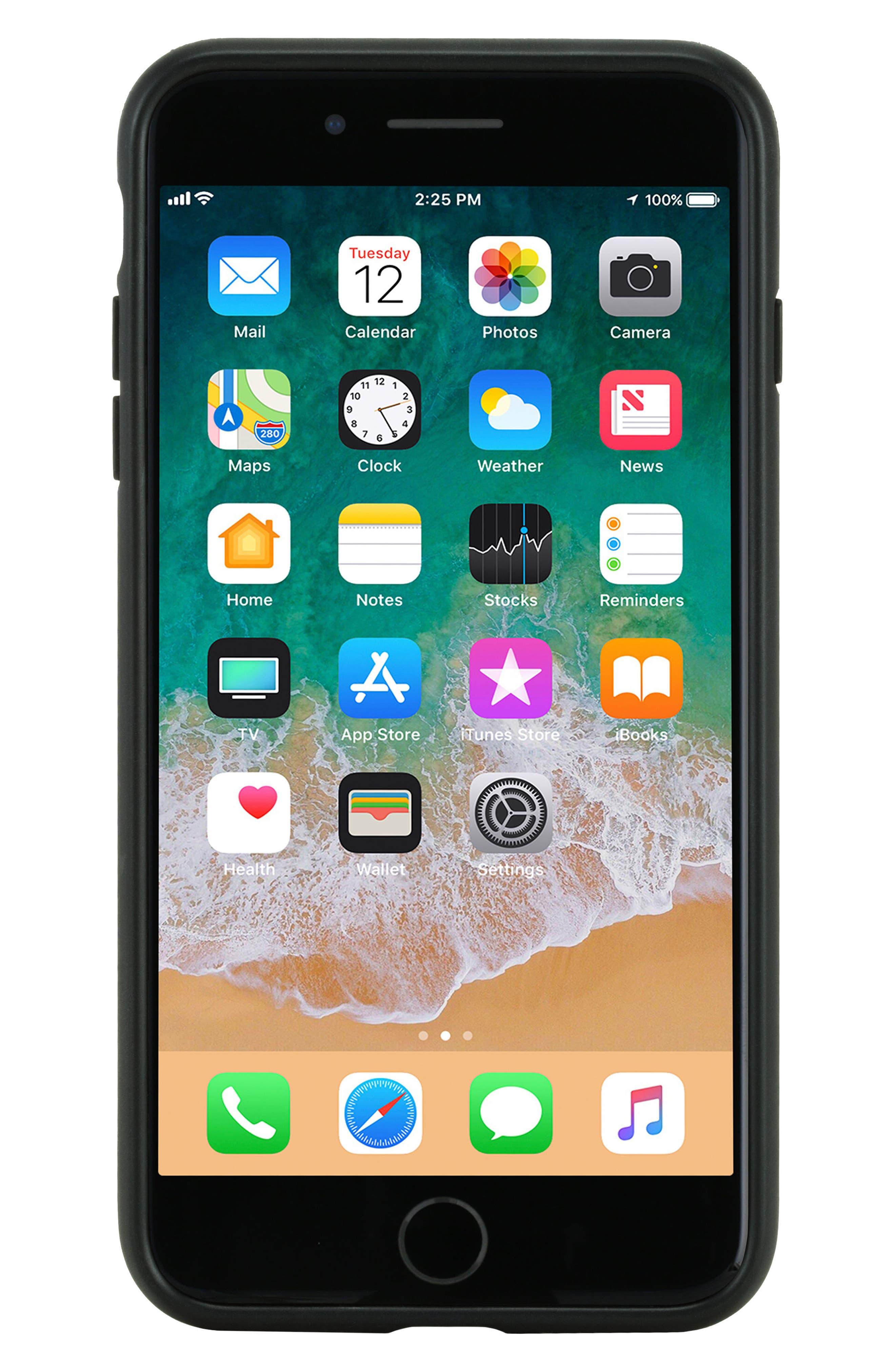 iPhone 7 Plus/8 Plus Case,                             Alternate thumbnail 5, color,                             Black Diamond Ripstop