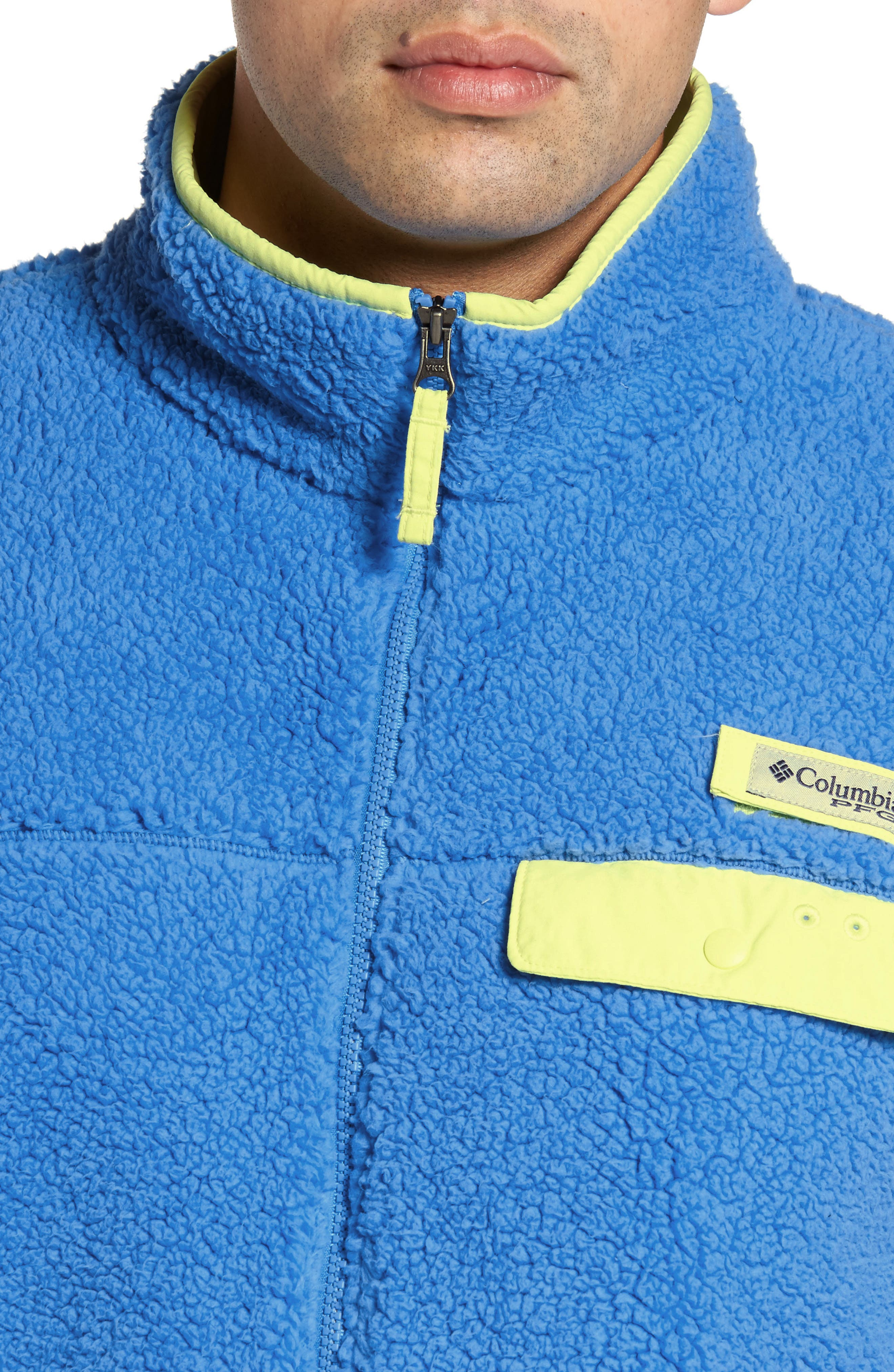 Harborside Fleece Jacket,                             Alternate thumbnail 4, color,                             Harbor Blue/ Neon Light