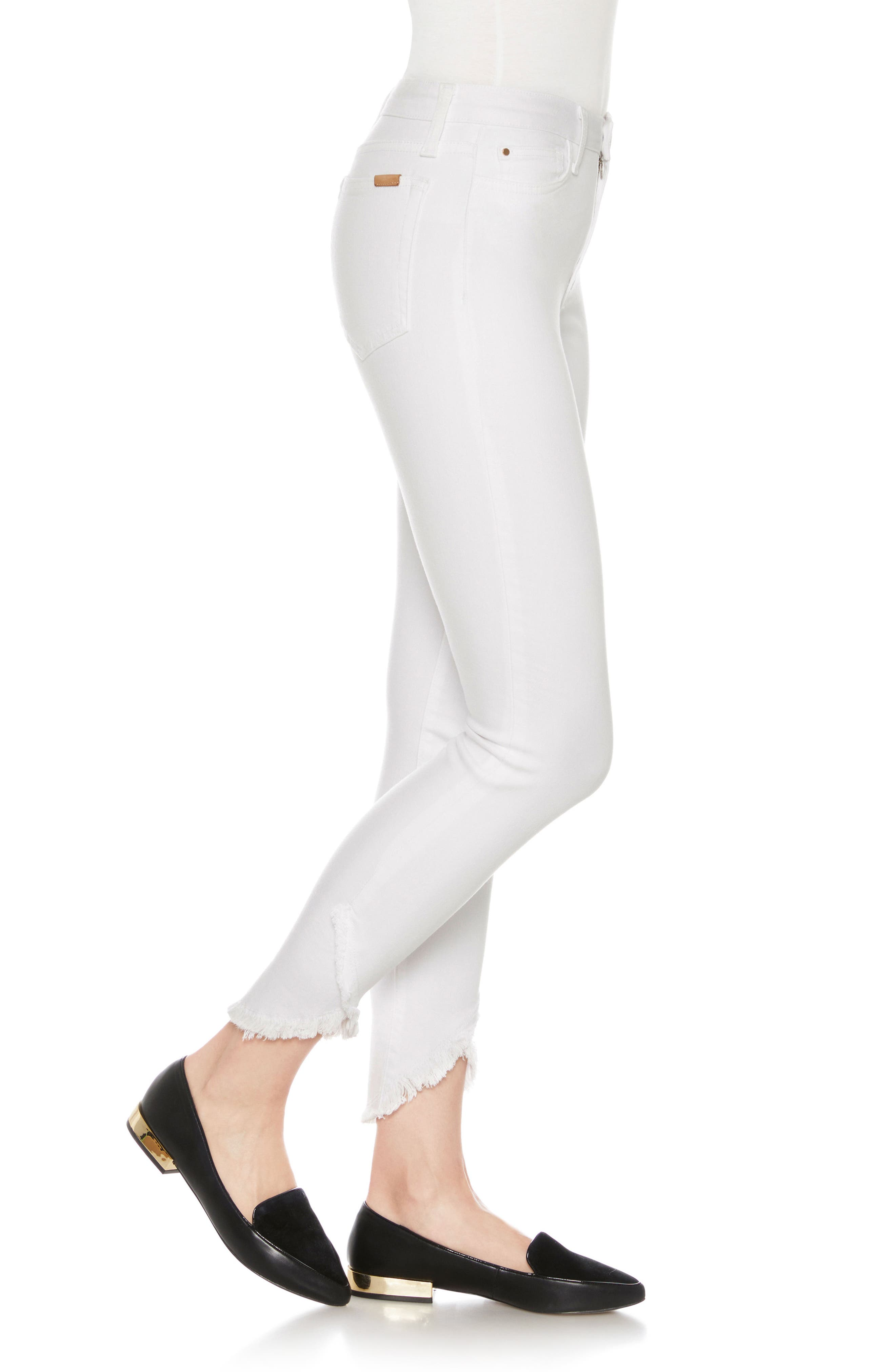 Flawless - Charlie High Waist Tulip Hem Ankle Skinny Jeans,                             Alternate thumbnail 3, color,                             Hennie