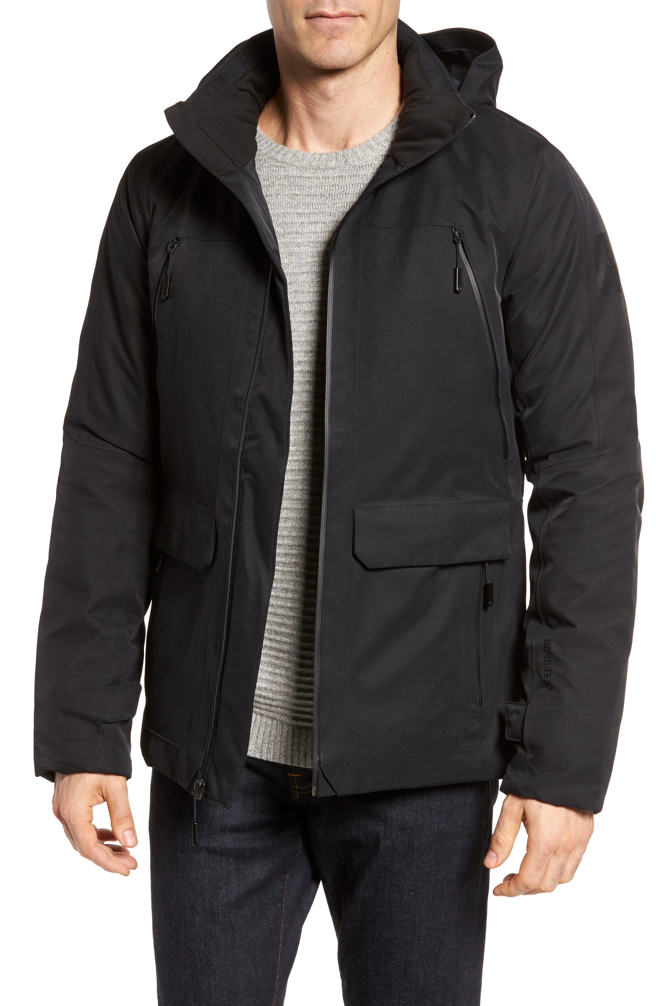 Cryos Waterproof Gore-Tex<sup>®</sup> PrimaLoft<sup>®</sup> Gold Insulated Jacket,                         Main,                         color, Black