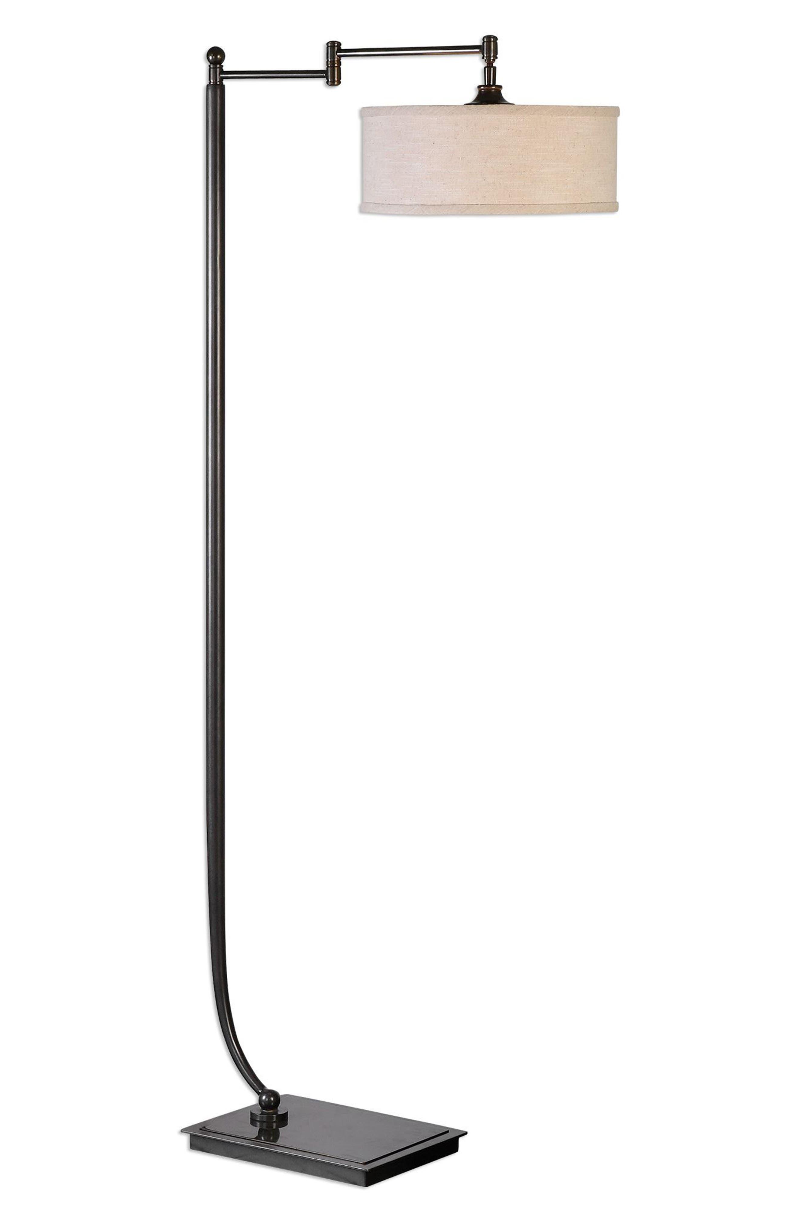 Lamine Floor Lamp,                         Main,                         color, Brown